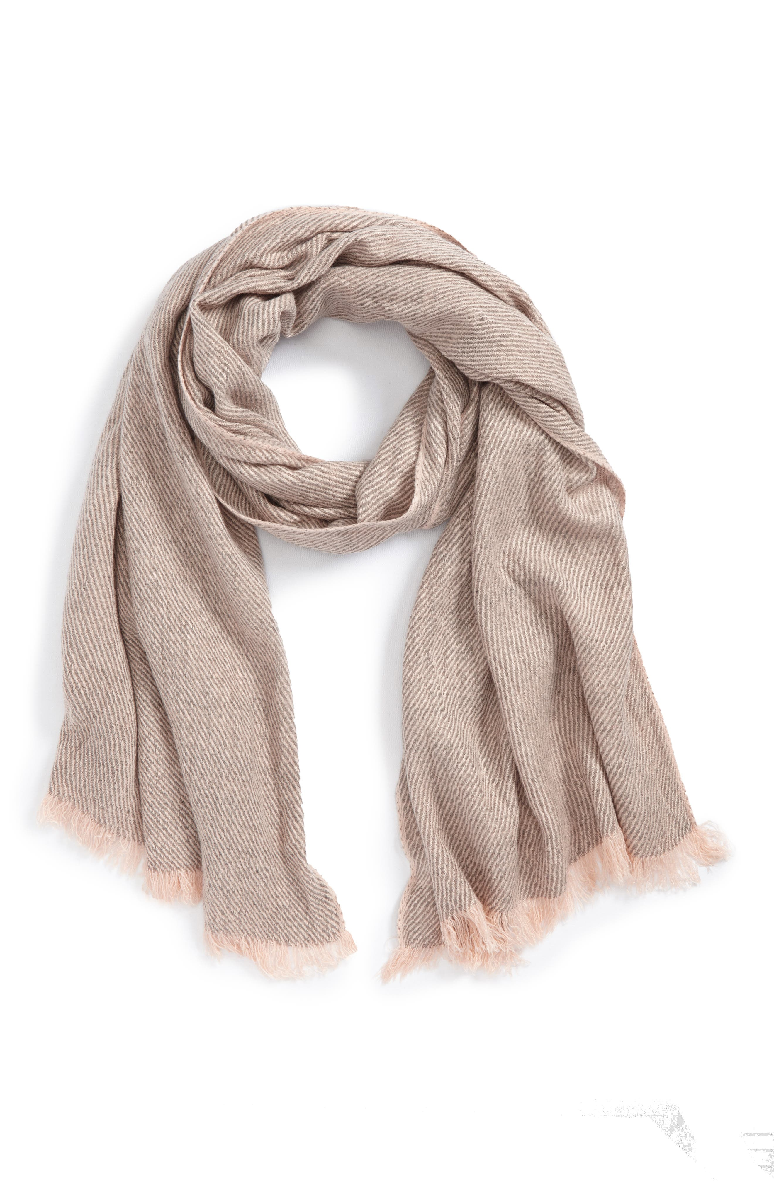 BP. Stripe Twill Oblong Scarf
