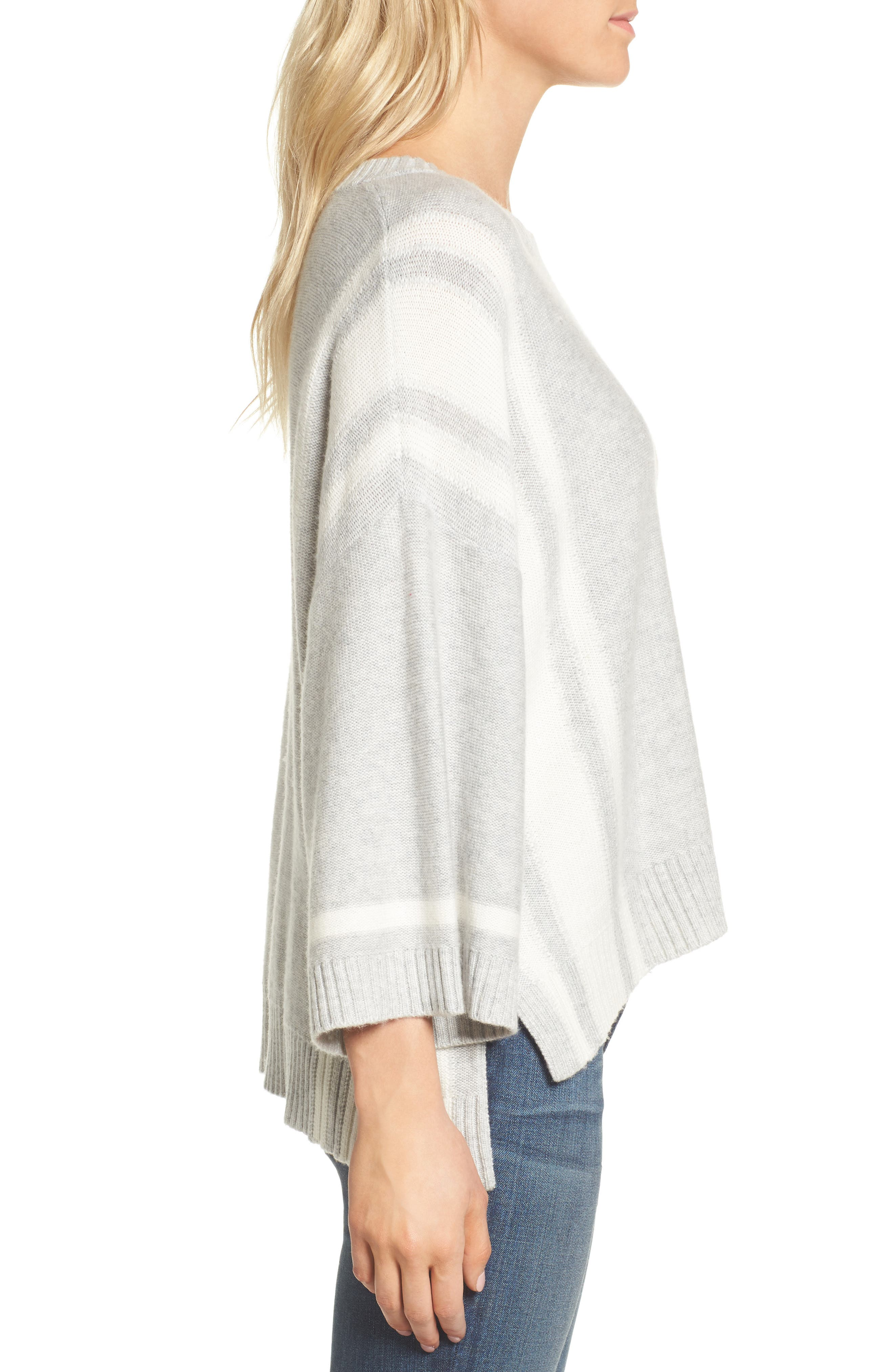 Bell Sleeve Sweater,                             Alternate thumbnail 4, color,                             Grey