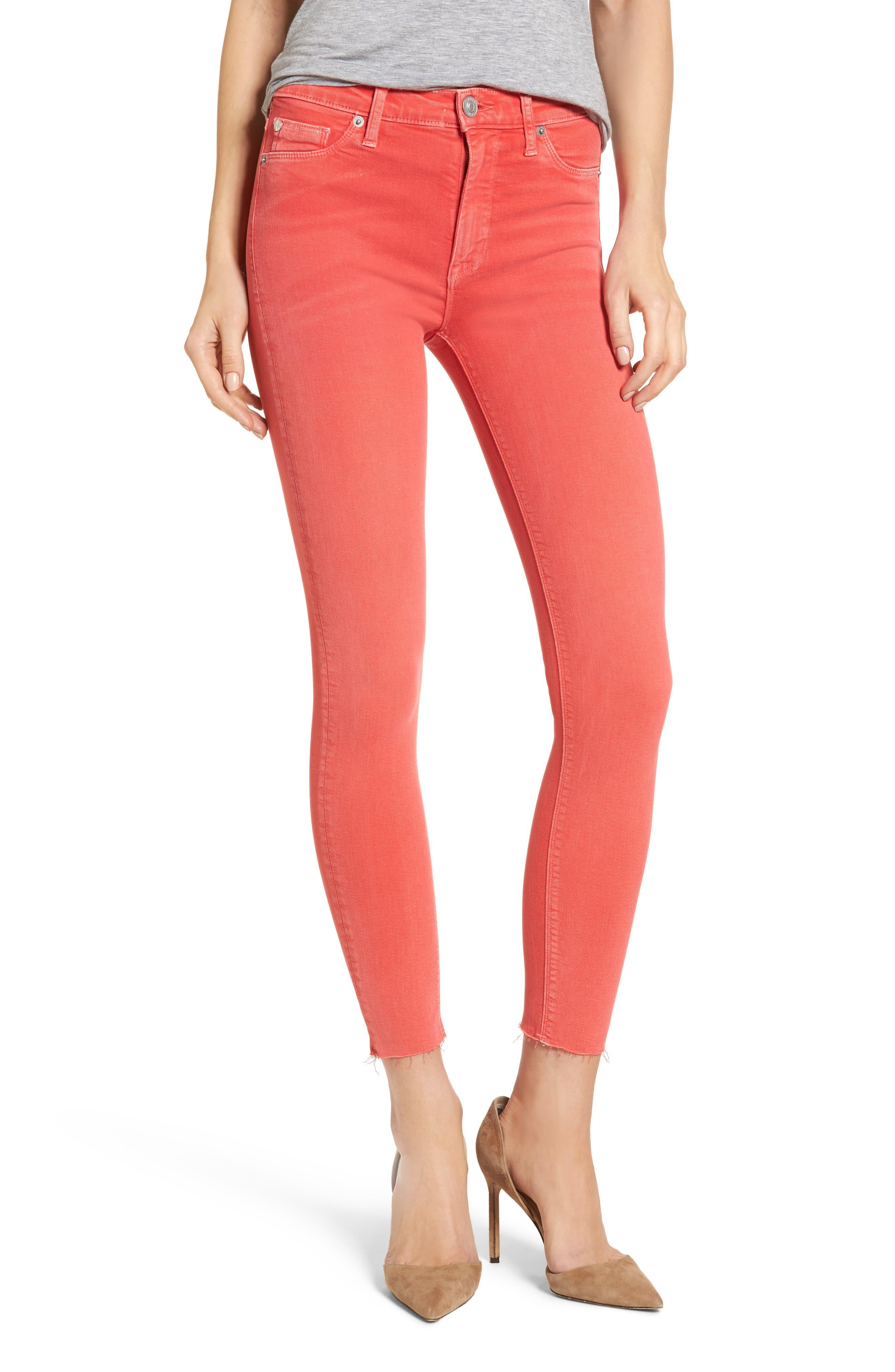Hudson Jeans Tally Crop Skinny Jeans (Worn Explosive)