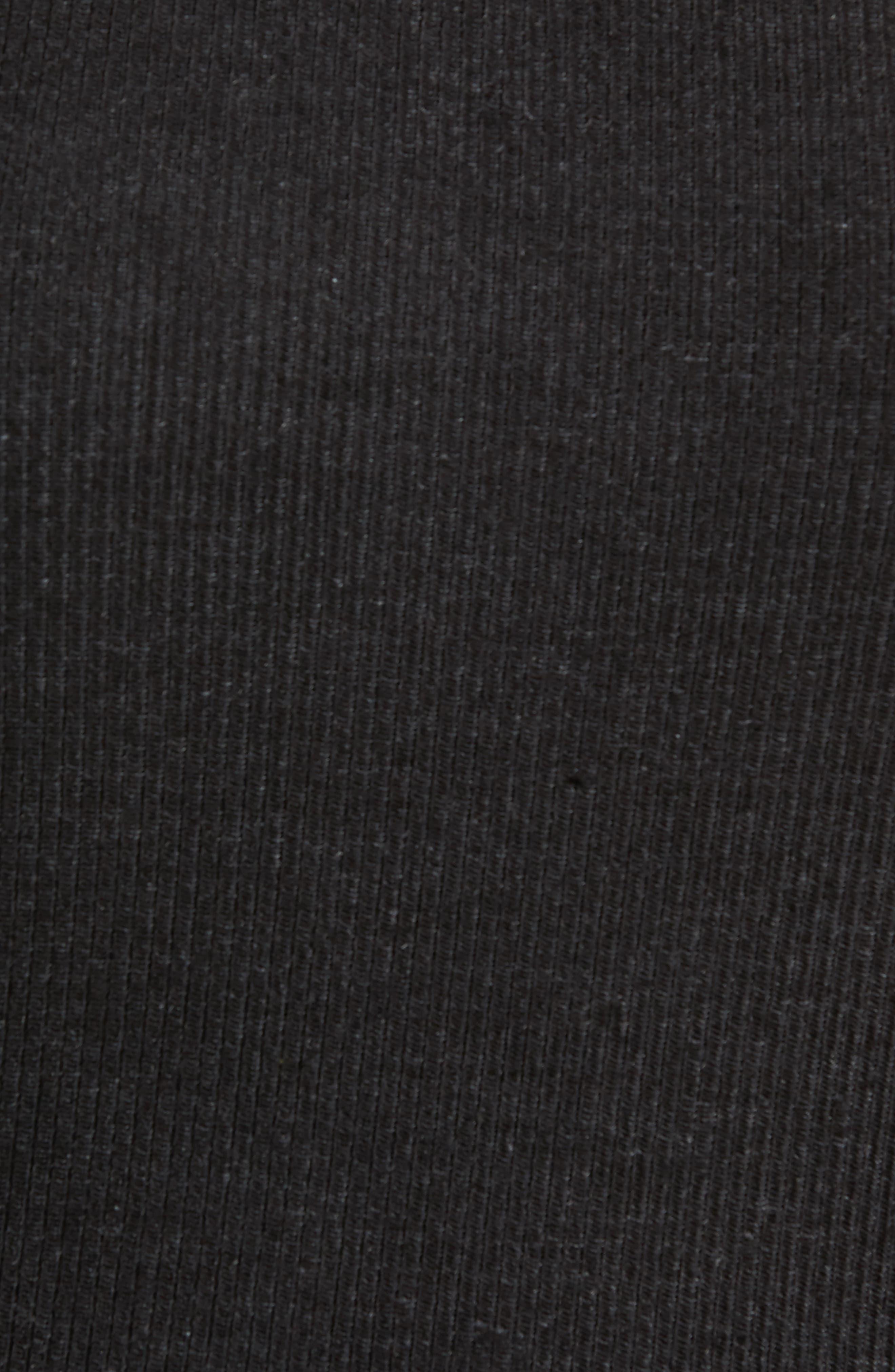 Ribbed Body-Con Dress,                             Alternate thumbnail 5, color,                             Black