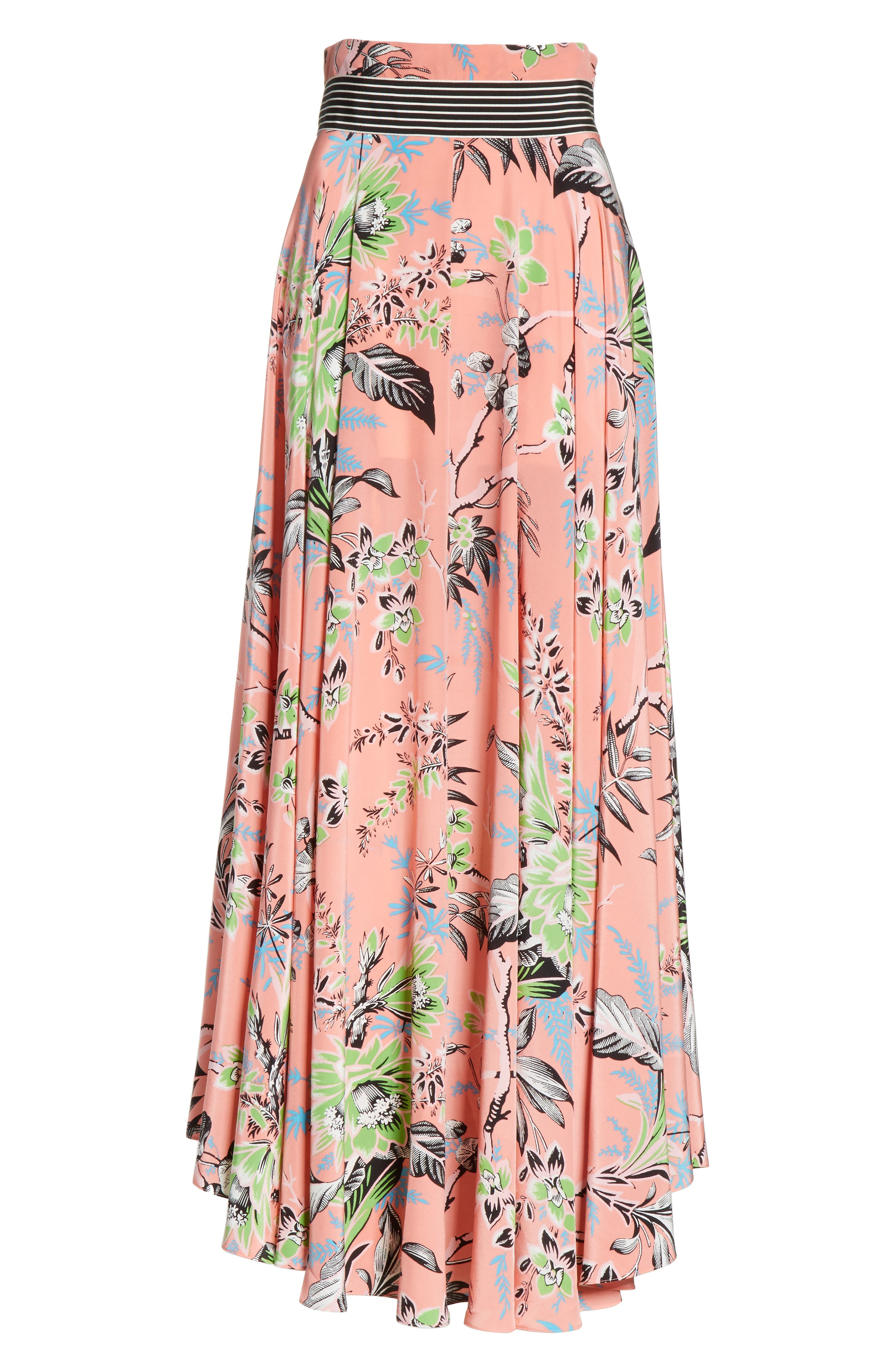 Diane von Furstenberg Draped Silk Maxi Skirt,                             Alternate thumbnail 6, color,                             Avalon Hyacinth