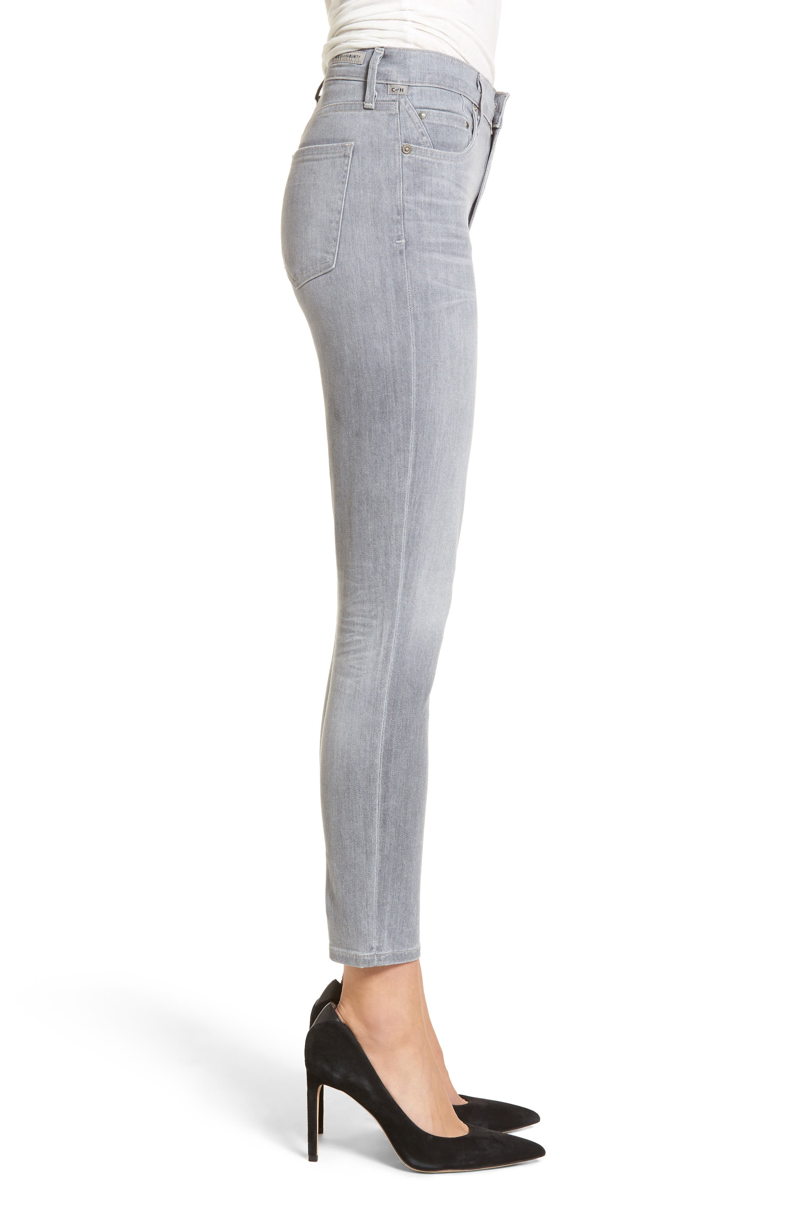 Rocket High Waist Crop Skinny Jeans,                             Alternate thumbnail 3, color,                             Rapture