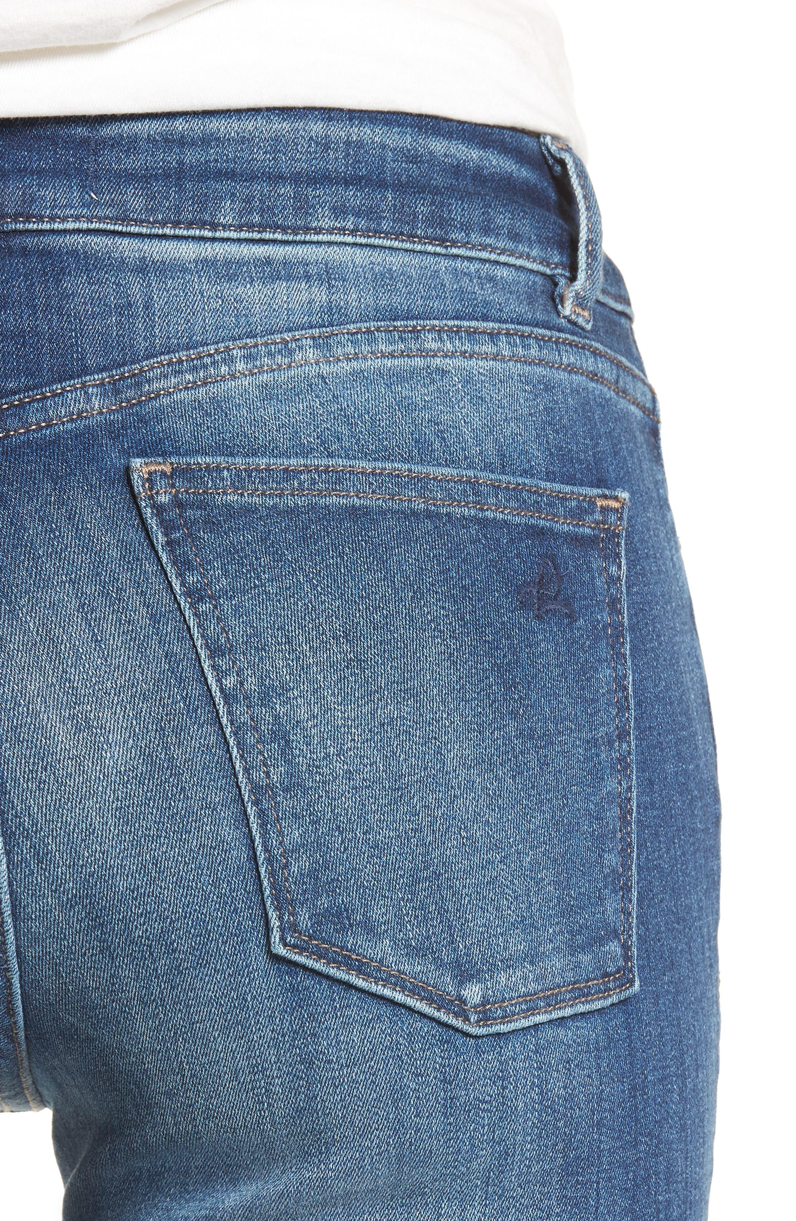Mara Straight Leg Jeans,                             Alternate thumbnail 4, color,                             Spring Lake