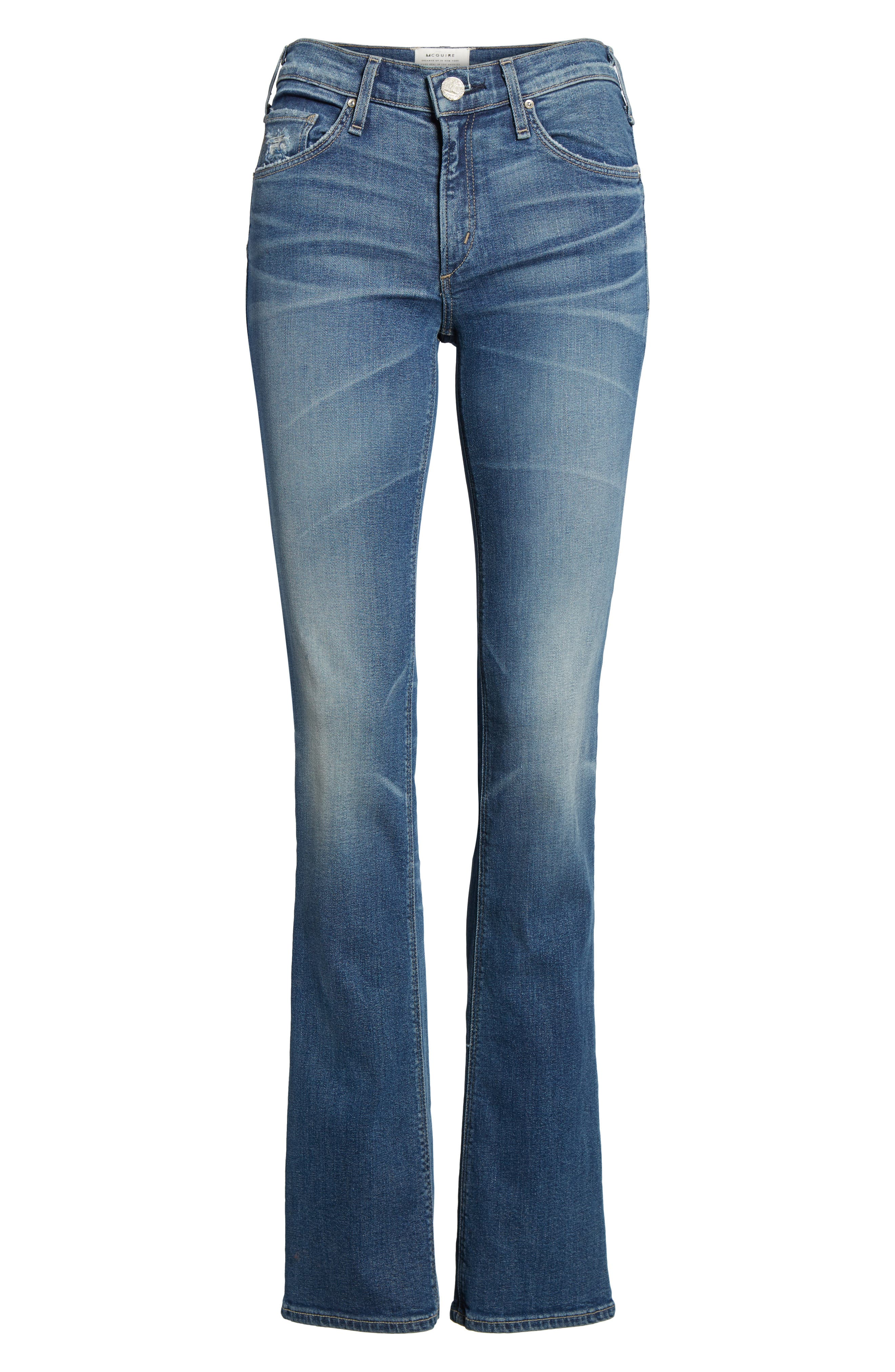 Gainsbourg High Waist Bootcut Jeans,                             Alternate thumbnail 7, color,                             Excuse Me Sir