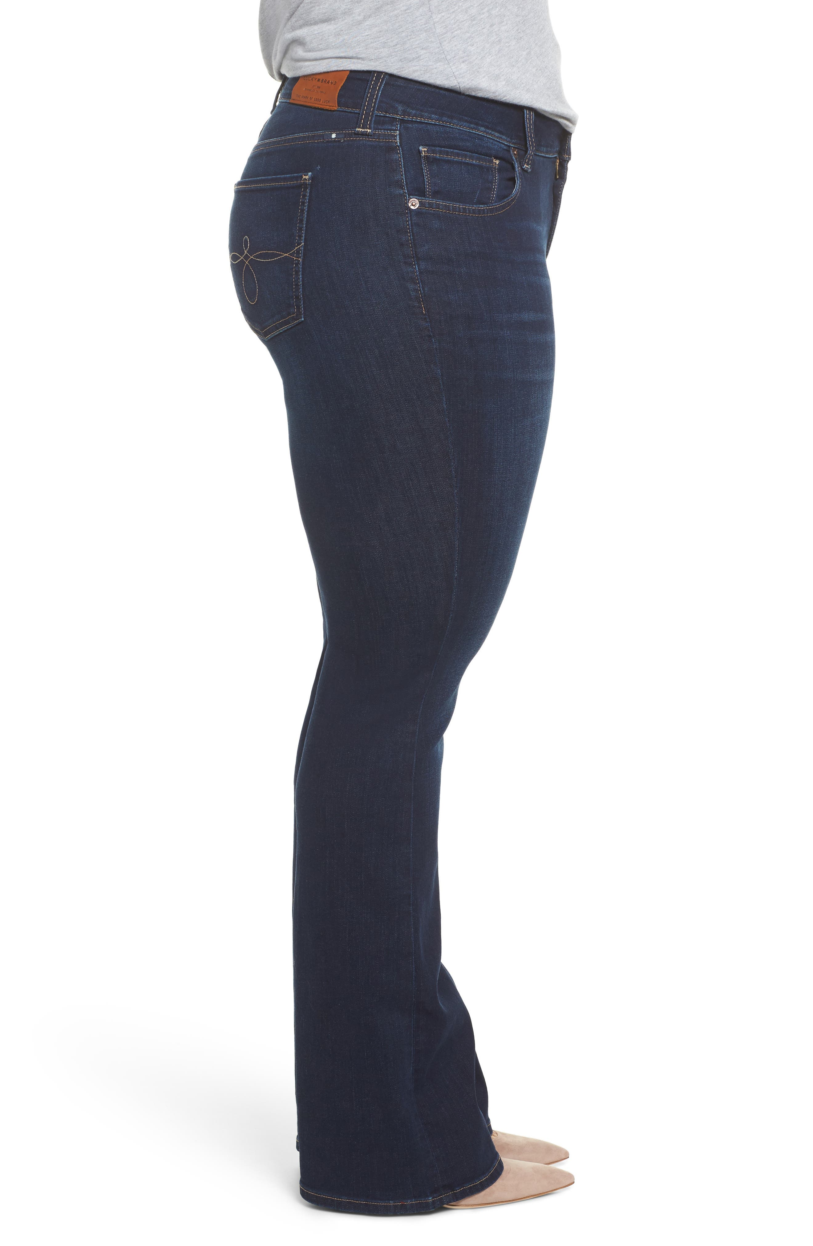 Alternate Image 3  - Lucky Brand Ginger Bootcut Jeans (Twilight Blue) (Plus Size)