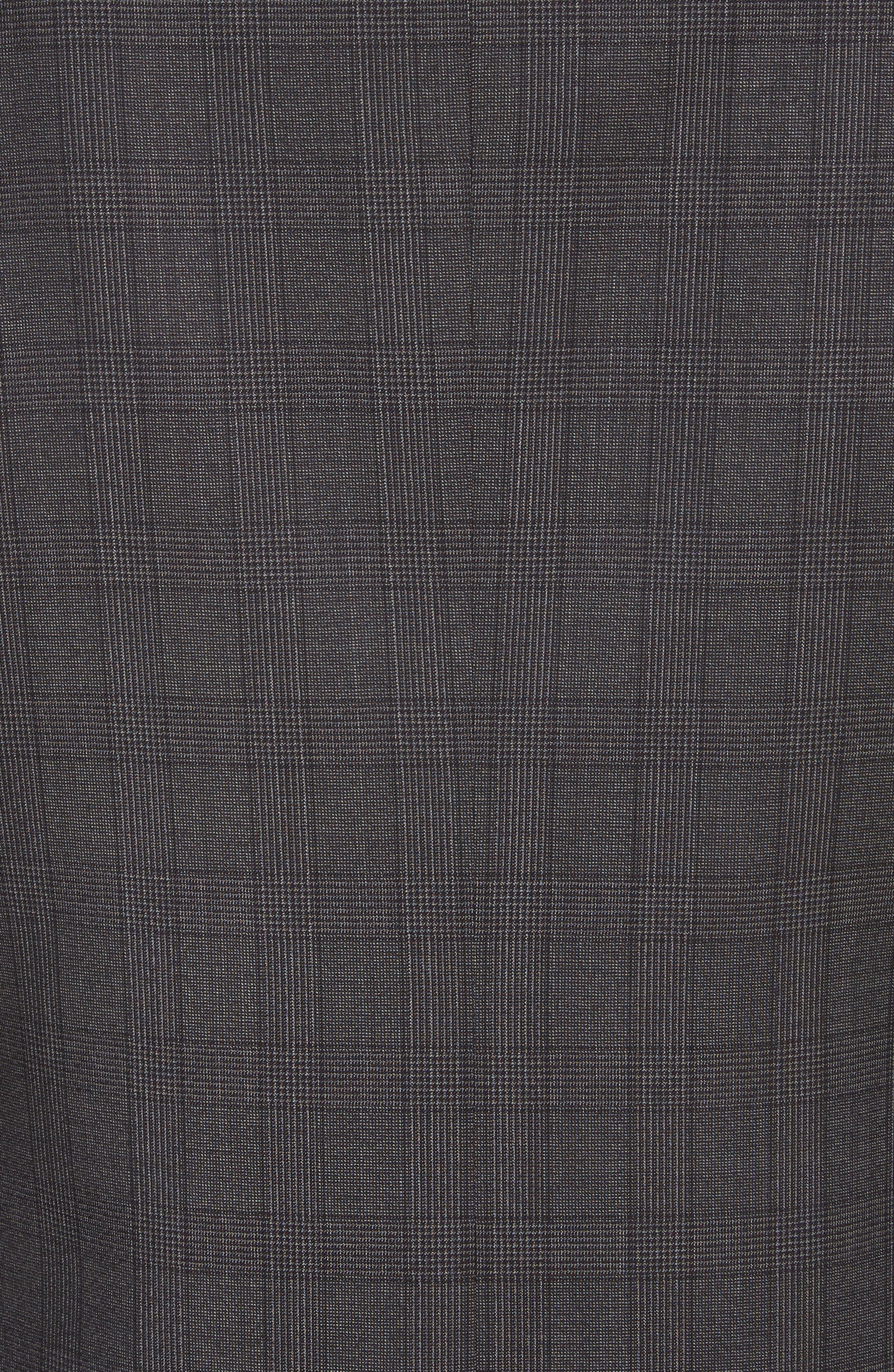 Classic Fit Plaid Wool Suit,                             Alternate thumbnail 7, color,                             Brown