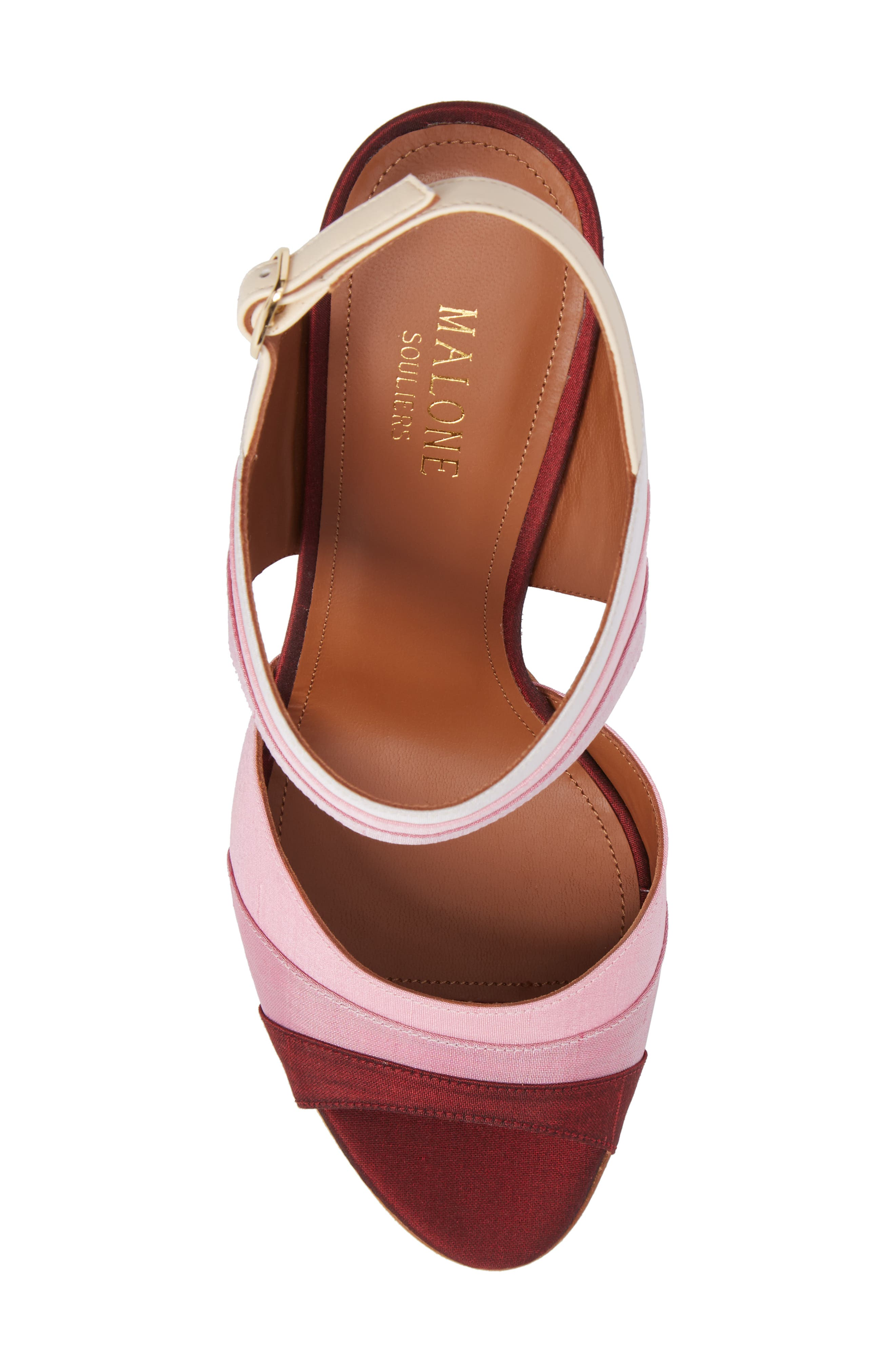 Anita Ombré Slingback Sandal,                             Alternate thumbnail 5, color,                             Peach/ Rose/ Berry/ Wine