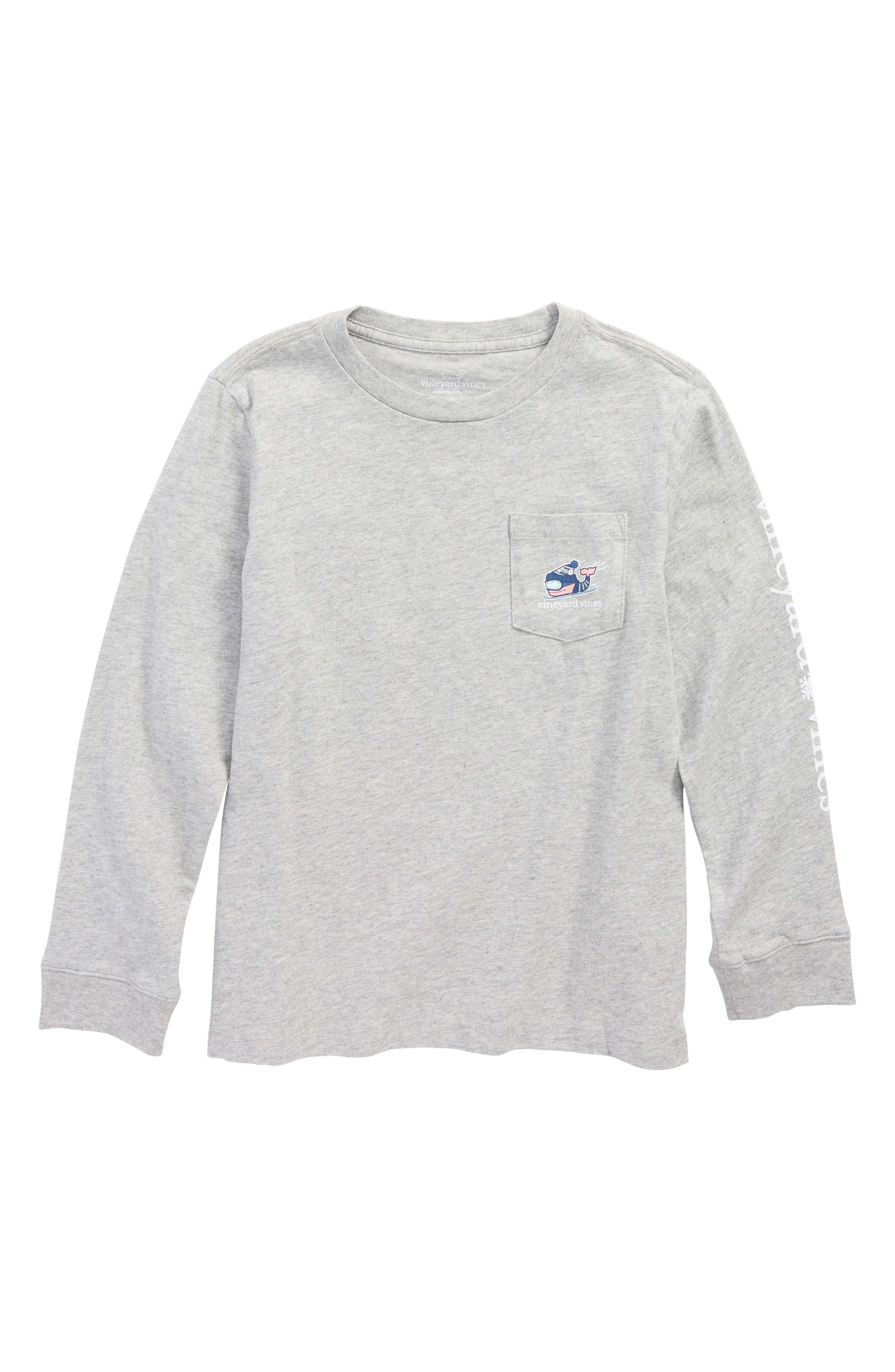 vineyard vines Downhill Ski Whale Pocket T-Shirt (Toddler Boys & Little Boys)