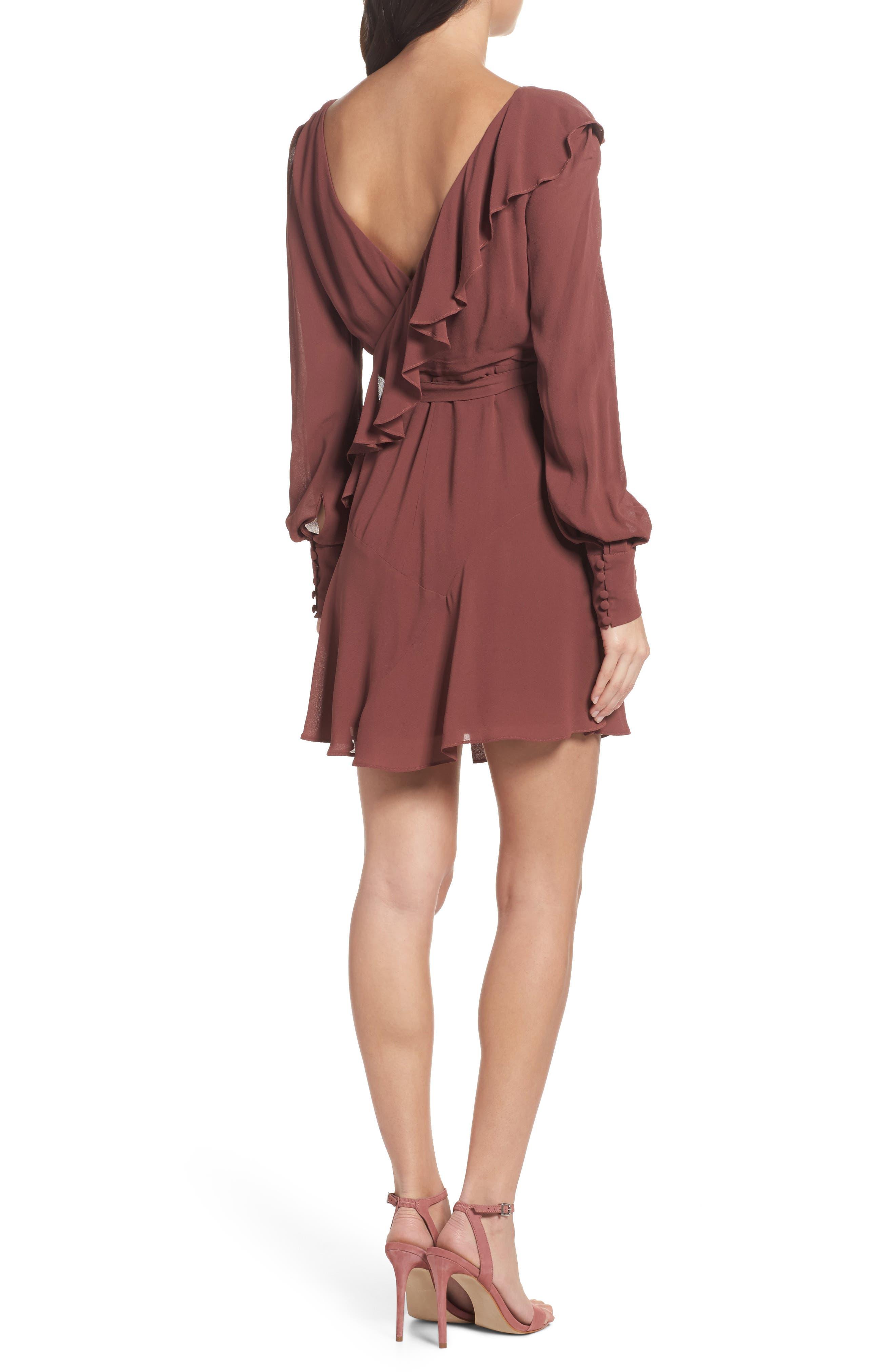 Rosie Ruffle Dress,                             Alternate thumbnail 2, color,                             Clay