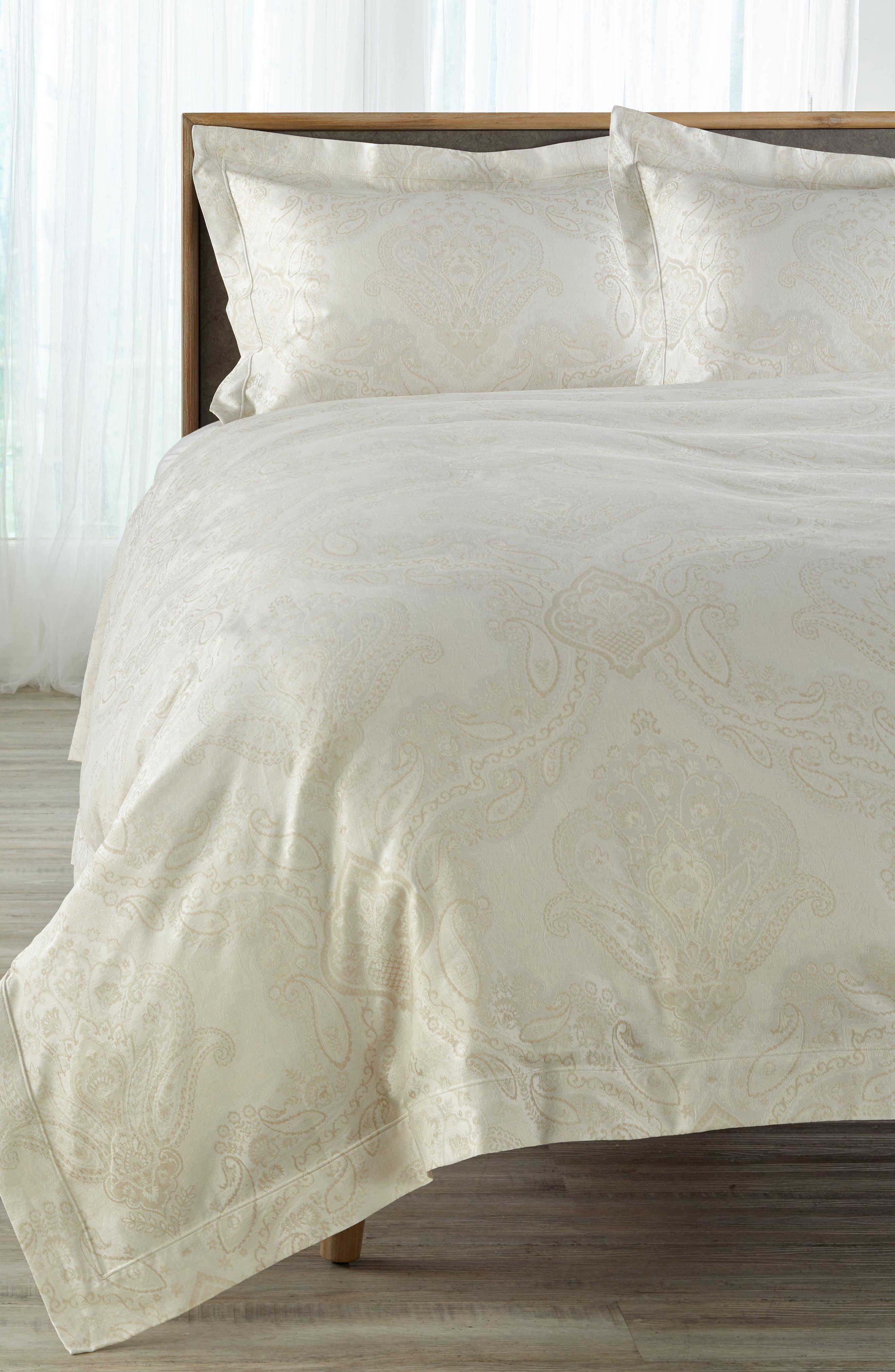 Miretta Duvet Cover,                         Main,                         color, Parchment