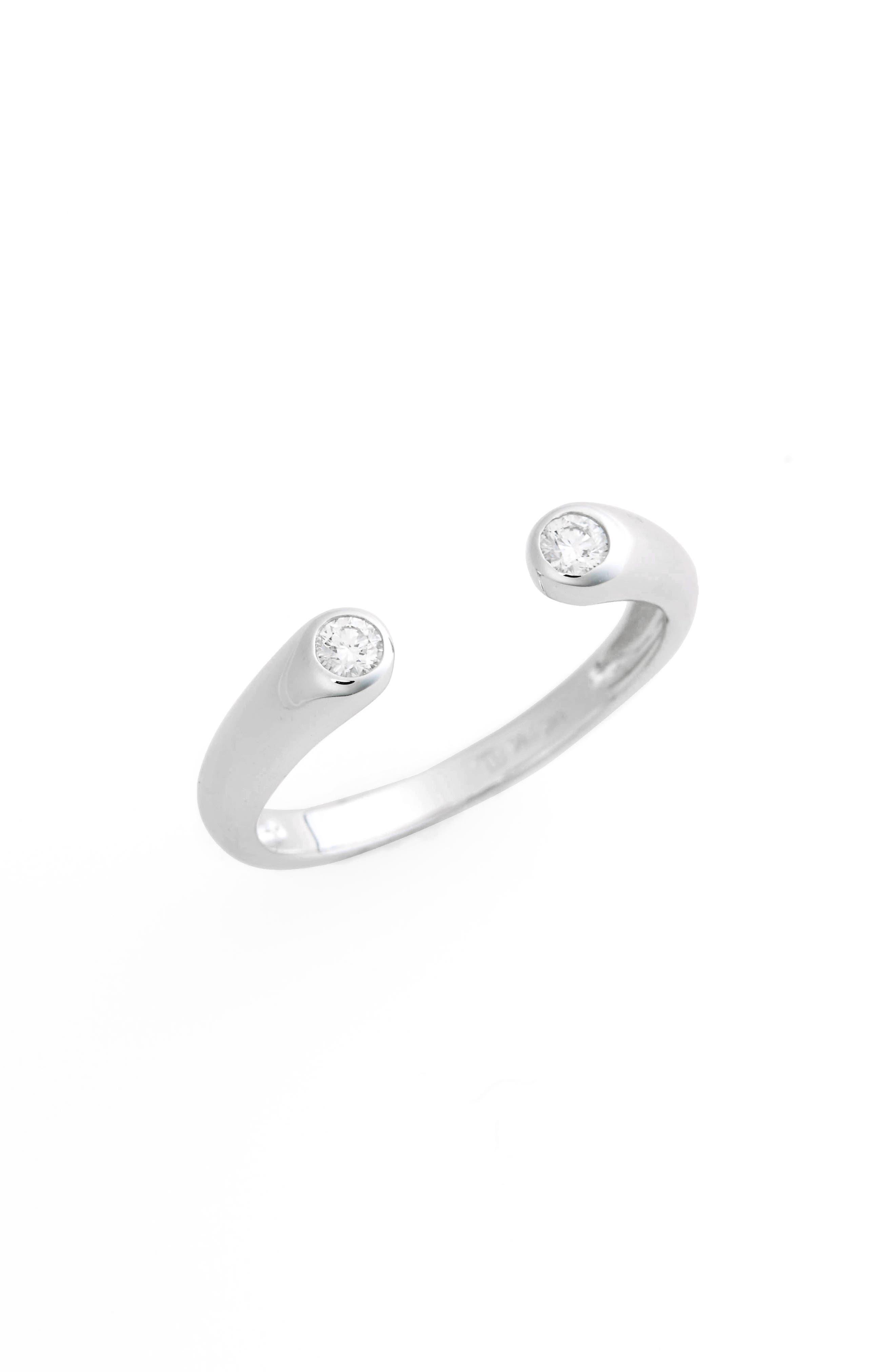 Main Image - Bony Levy Open Cuff Diamond Ring