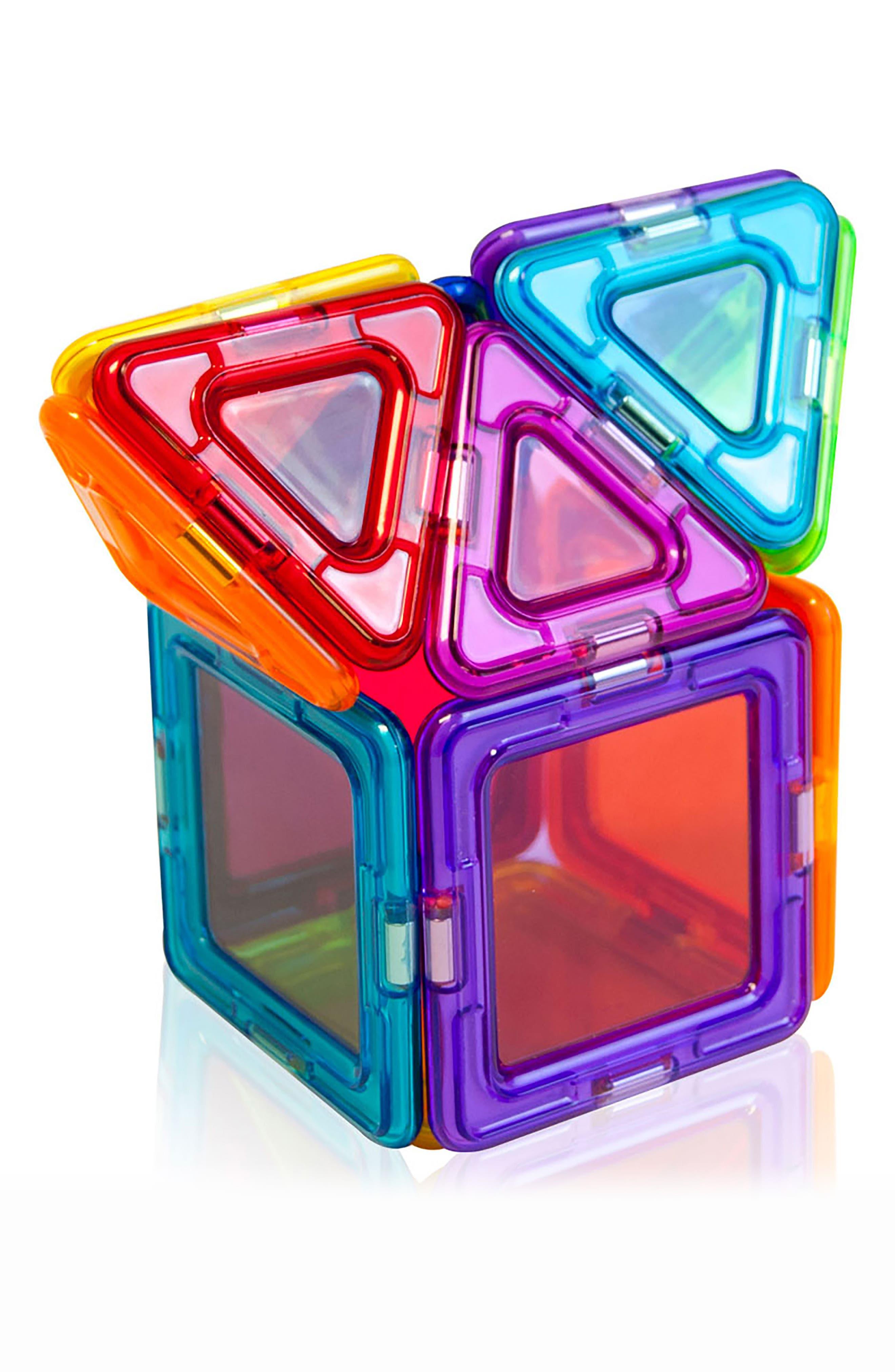 14-Piece Rainbow Clear Solid Magnetic 3D Construction Set,                             Alternate thumbnail 5, color,                             Multi