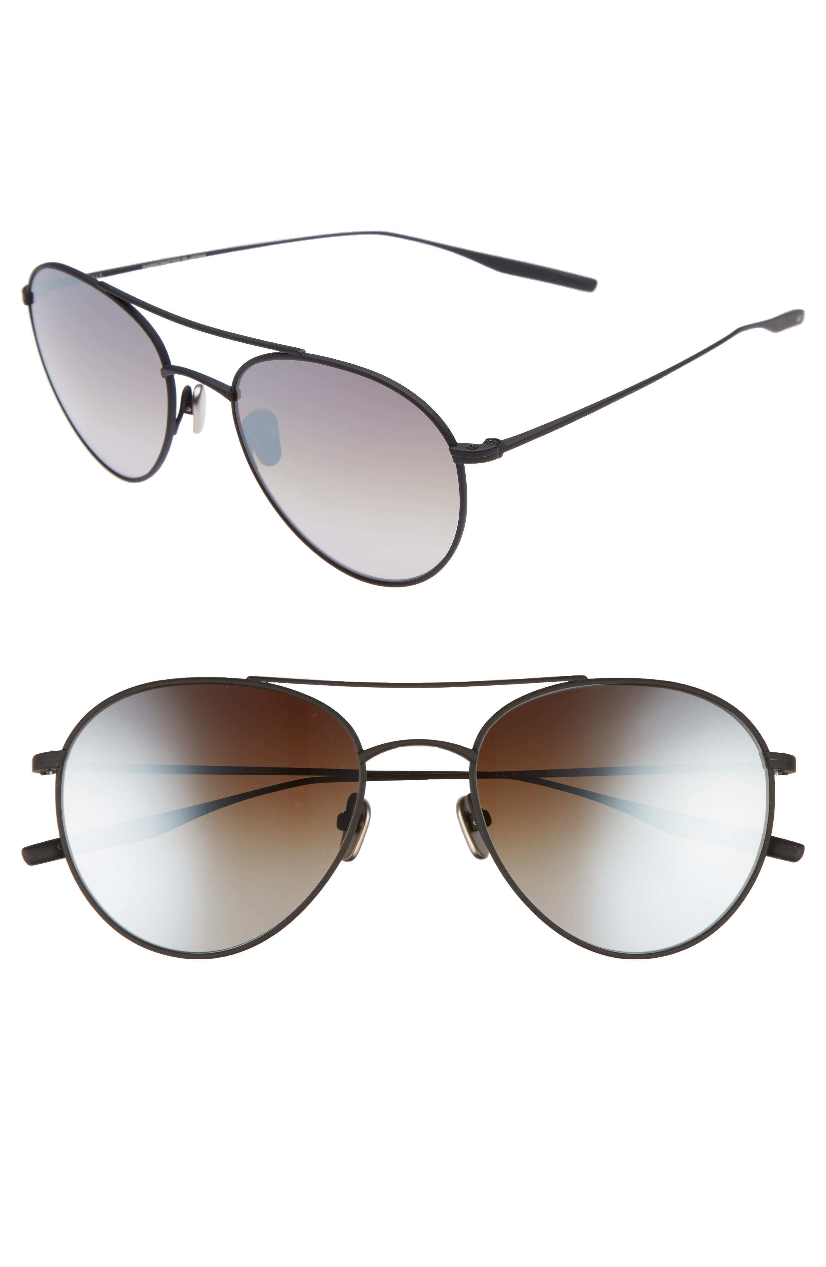 Fufkin 54mm Polarized Round Sunglasses,                         Main,                         color, Black Sand