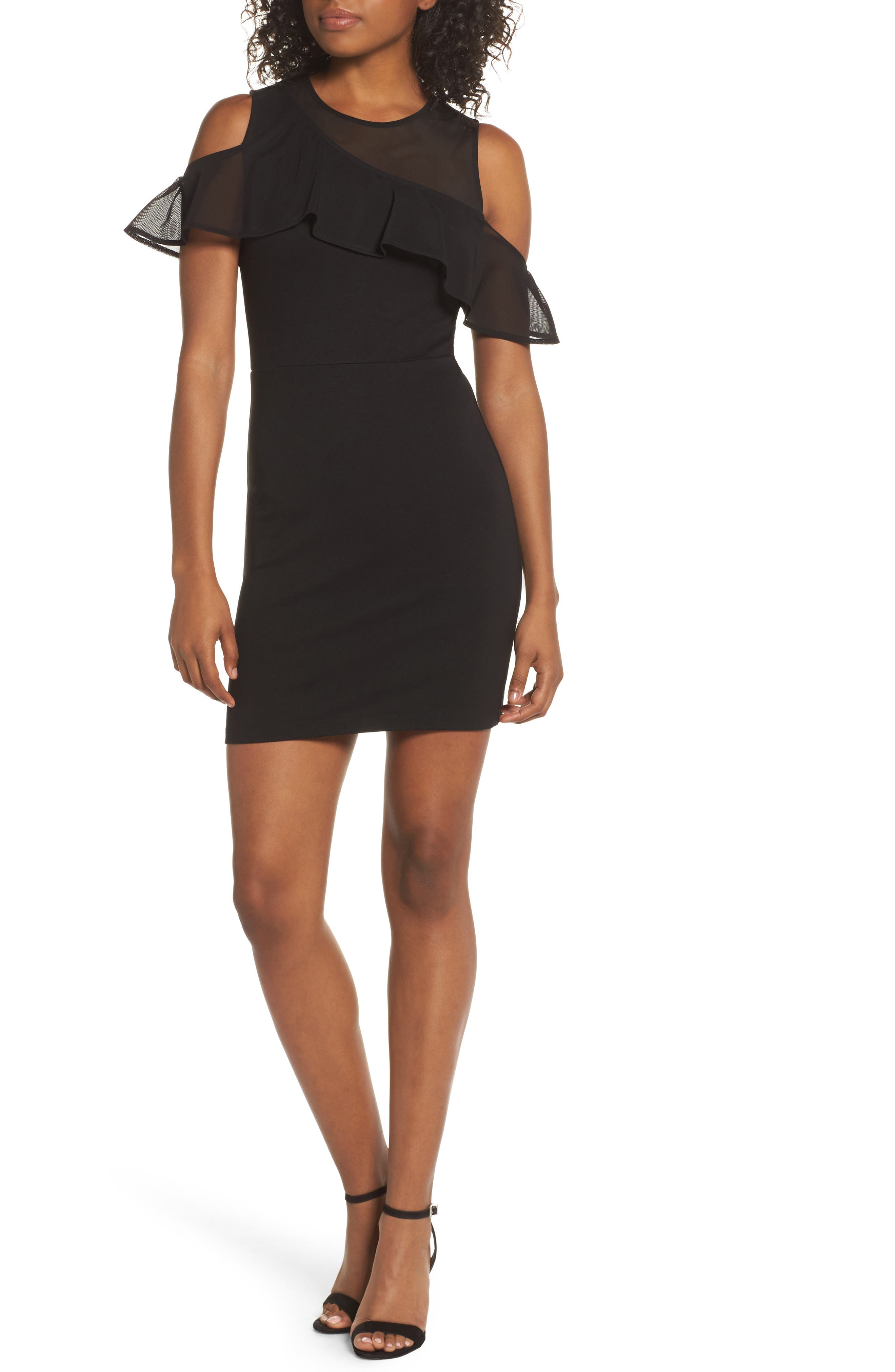 French Connection Lau Lulu Cold Shoulder Body-Con Dress