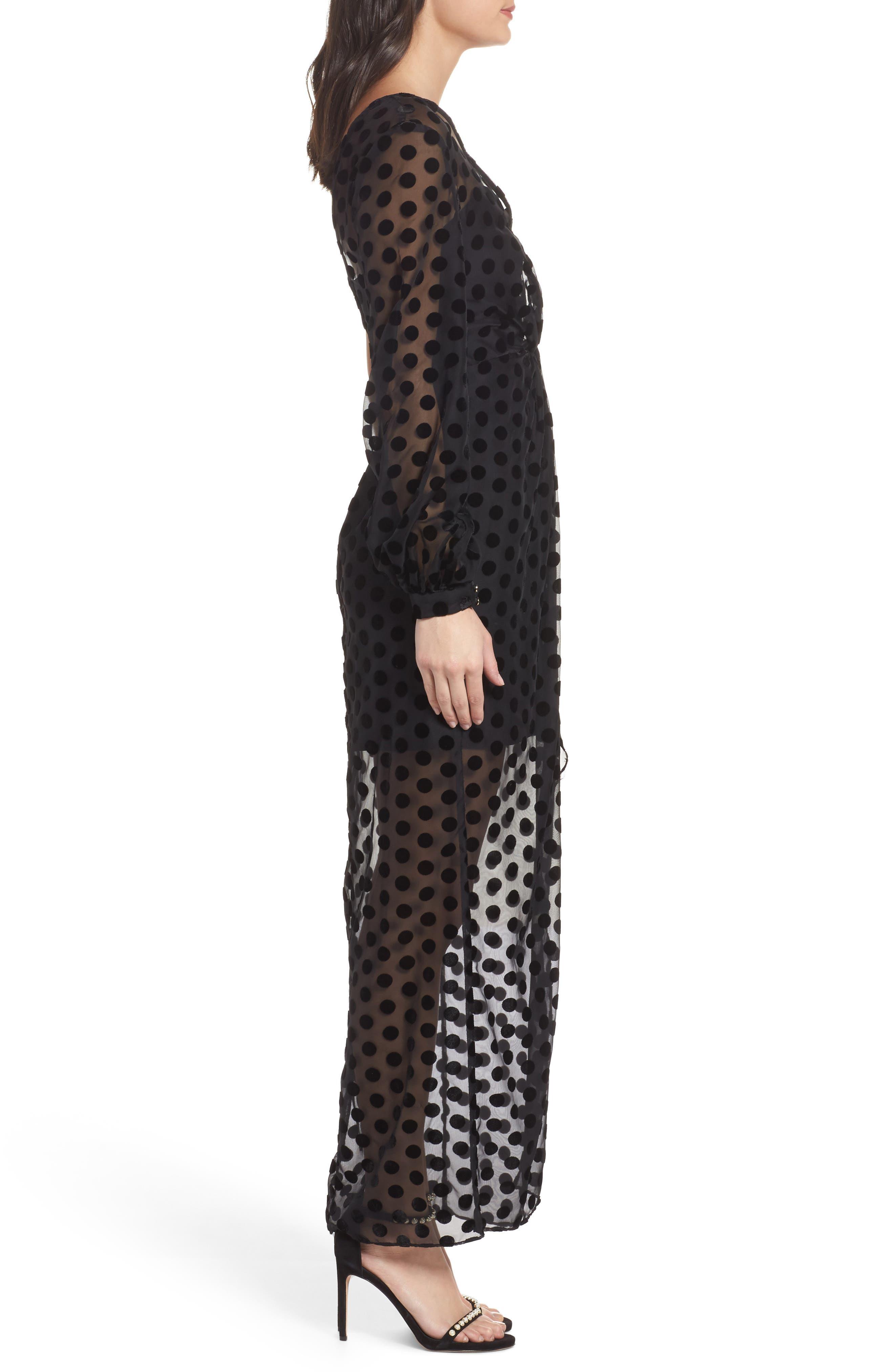Alternate Image 4  - Keepsake the Label Exhale One Shoulder Polka Dot Dress