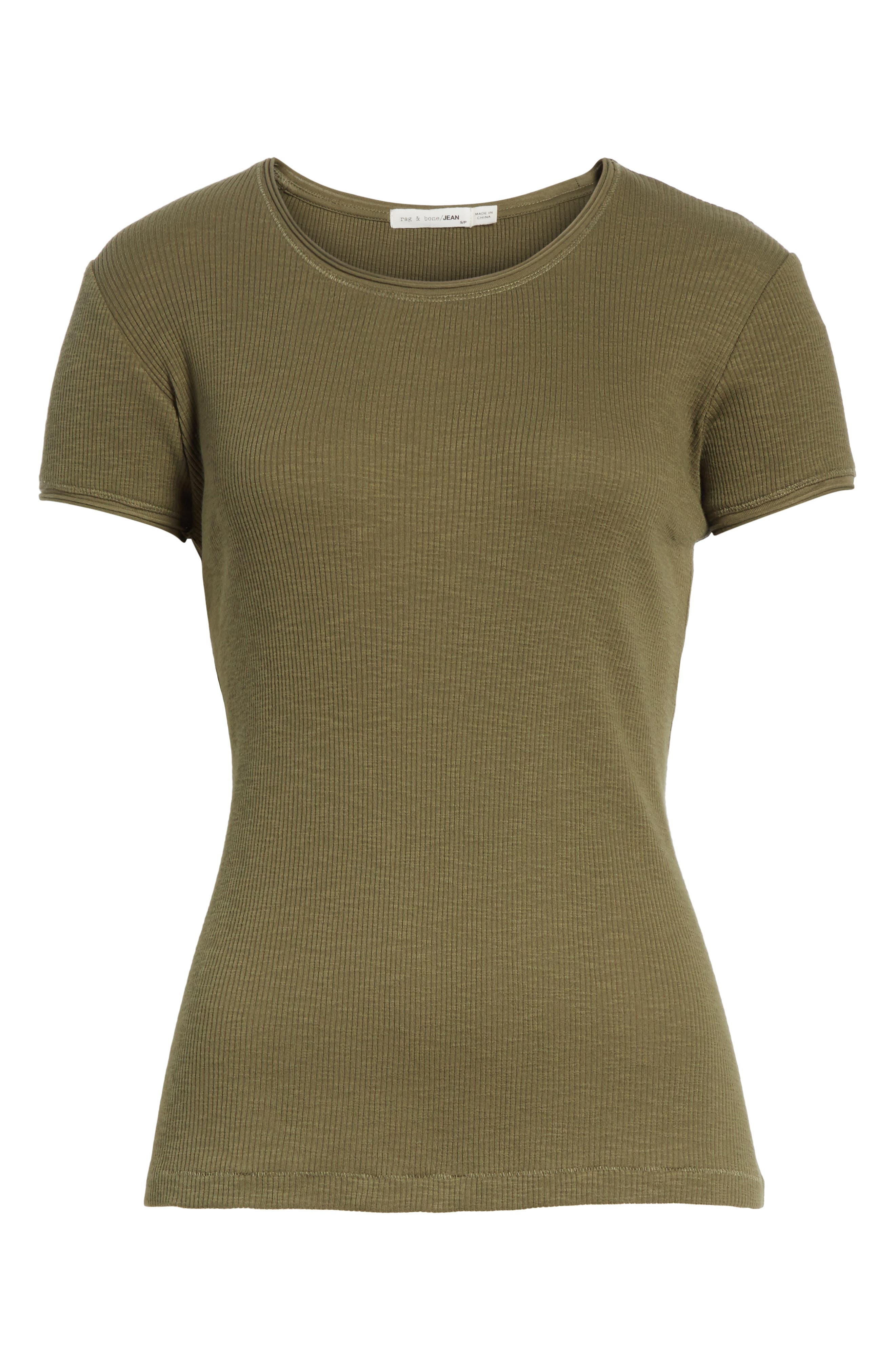 Lilies Tee,                             Alternate thumbnail 6, color,                             Dark Olive