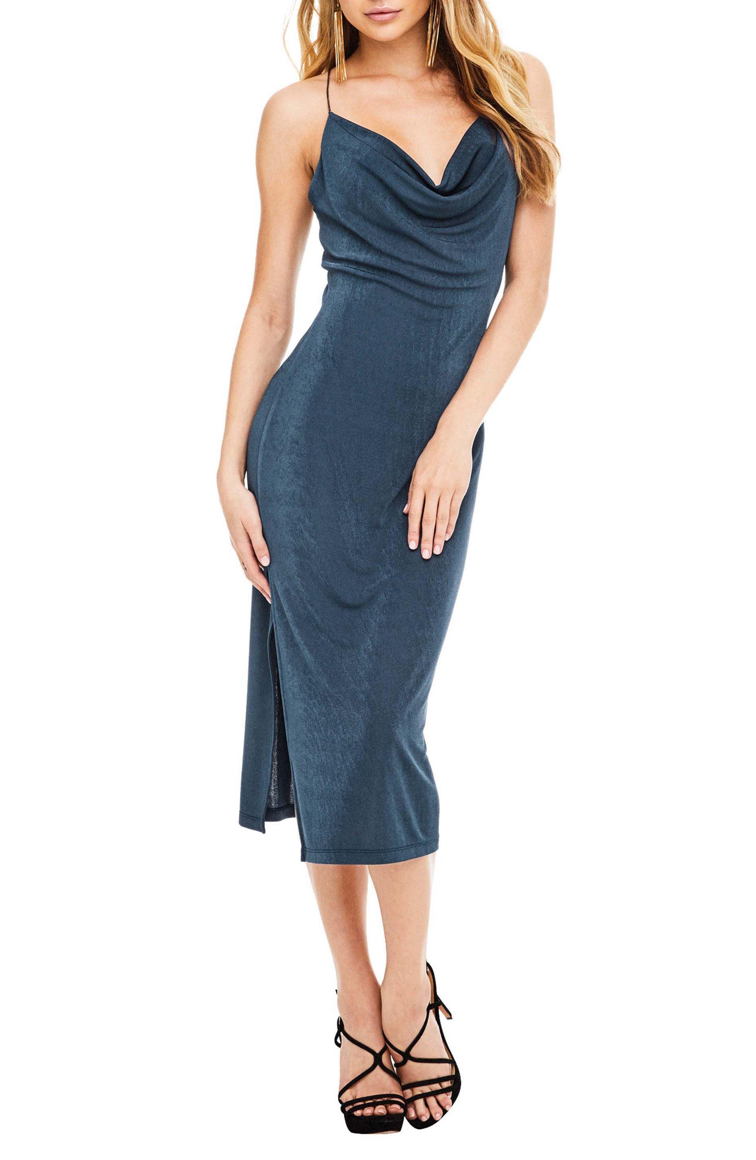 Ivana Midi Dress,                         Main,                         color, Teal