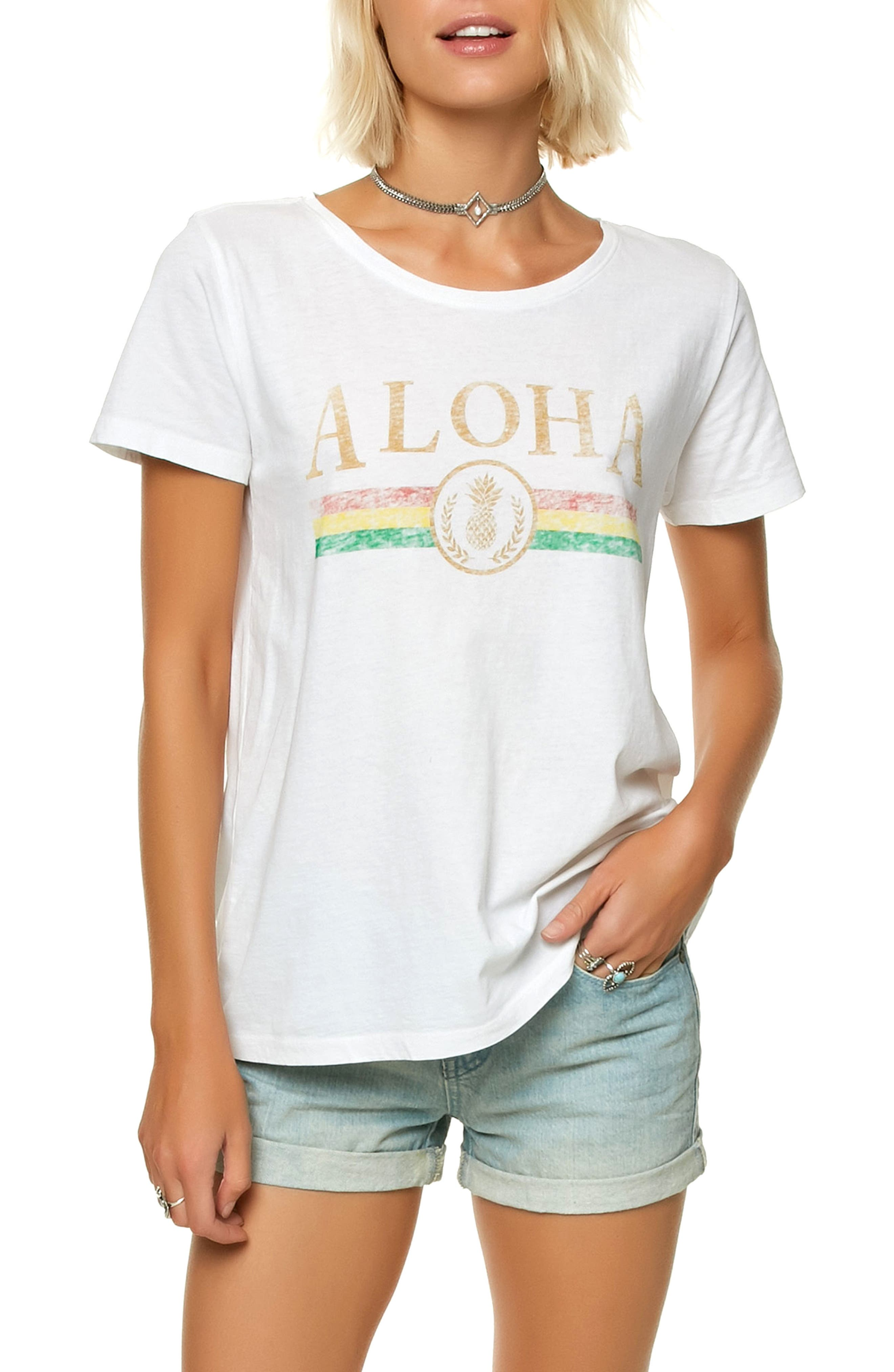 Royal Graphic Tee,                         Main,                         color, White