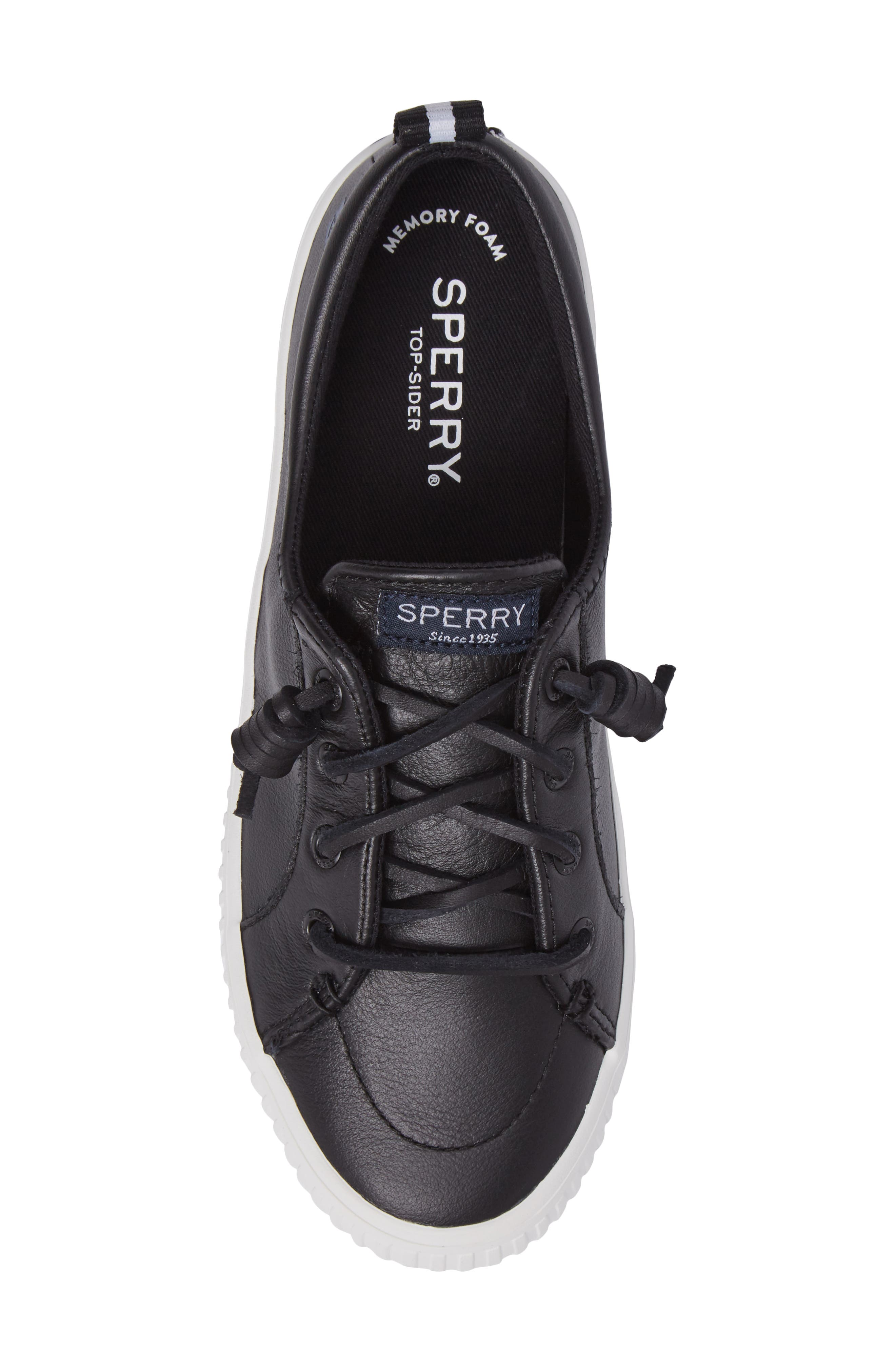 Crest Vibe Creeper Sneaker,                             Alternate thumbnail 5, color,                             Black Leather