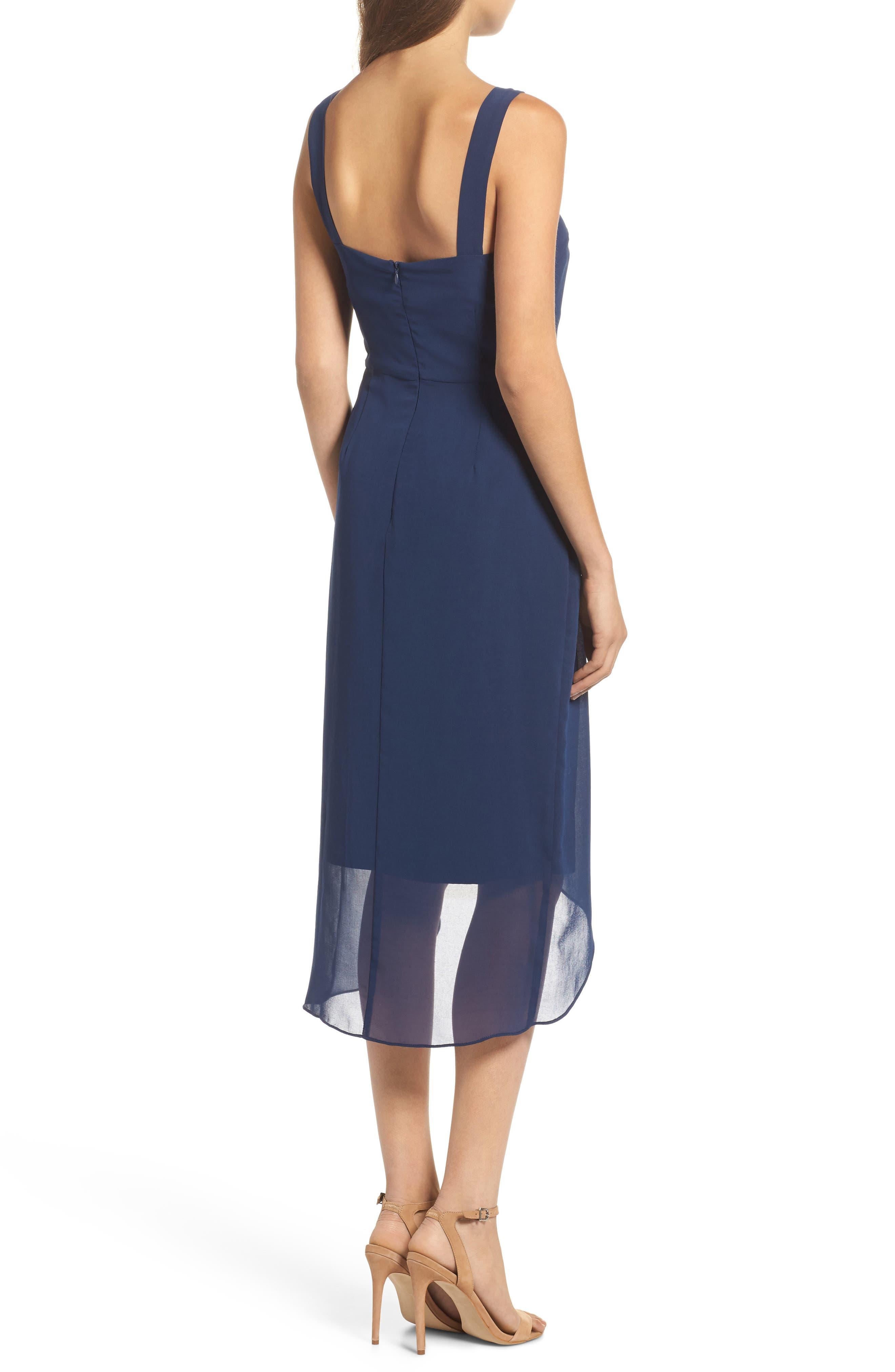 Utopia Midi Dress,                             Alternate thumbnail 2, color,                             Ink