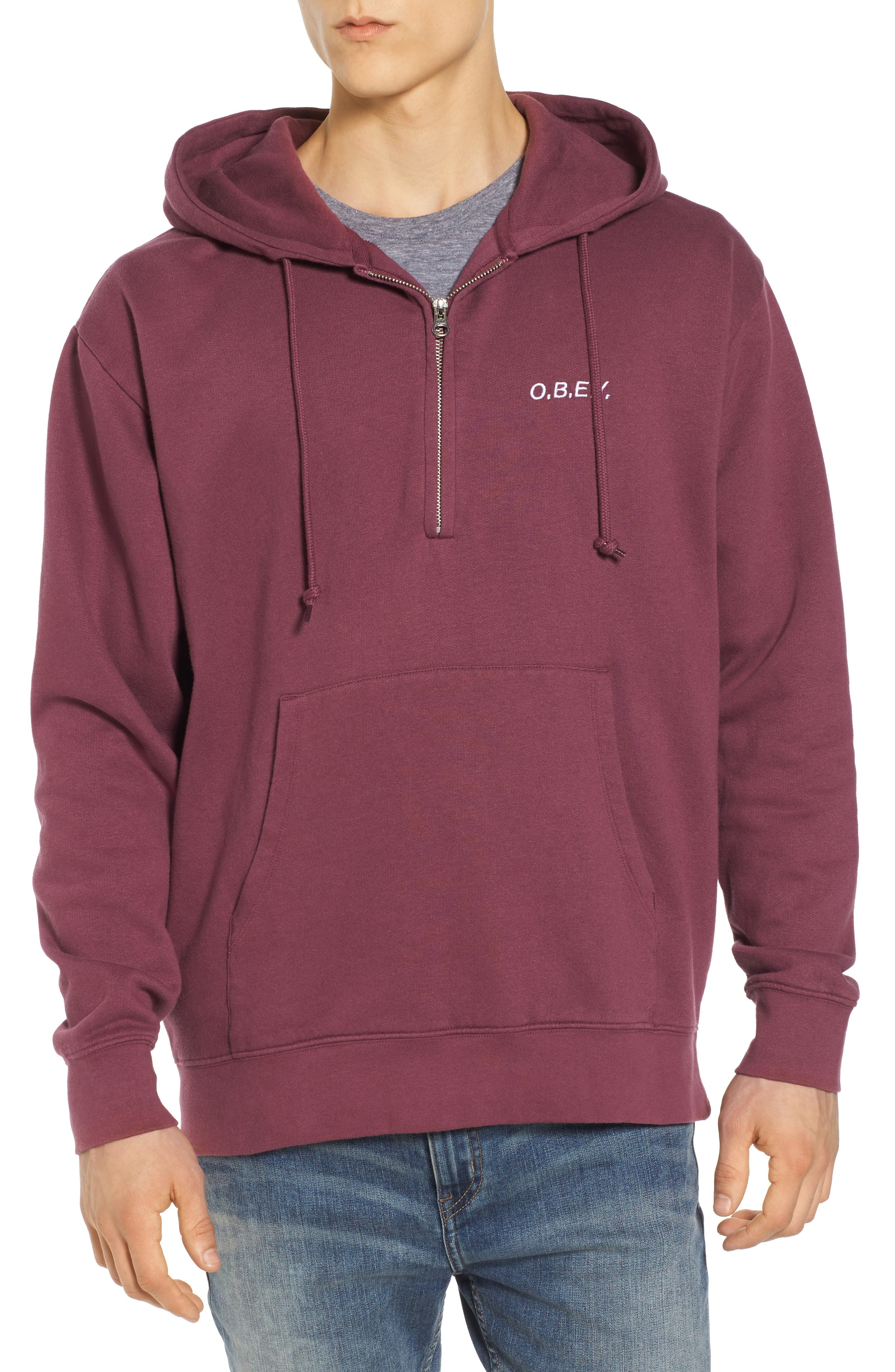 Ennet Hooded Pullover,                         Main,                         color, Eggplant