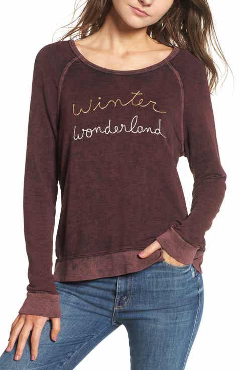 Sundry Active Winter Wonderland Sweatshirt