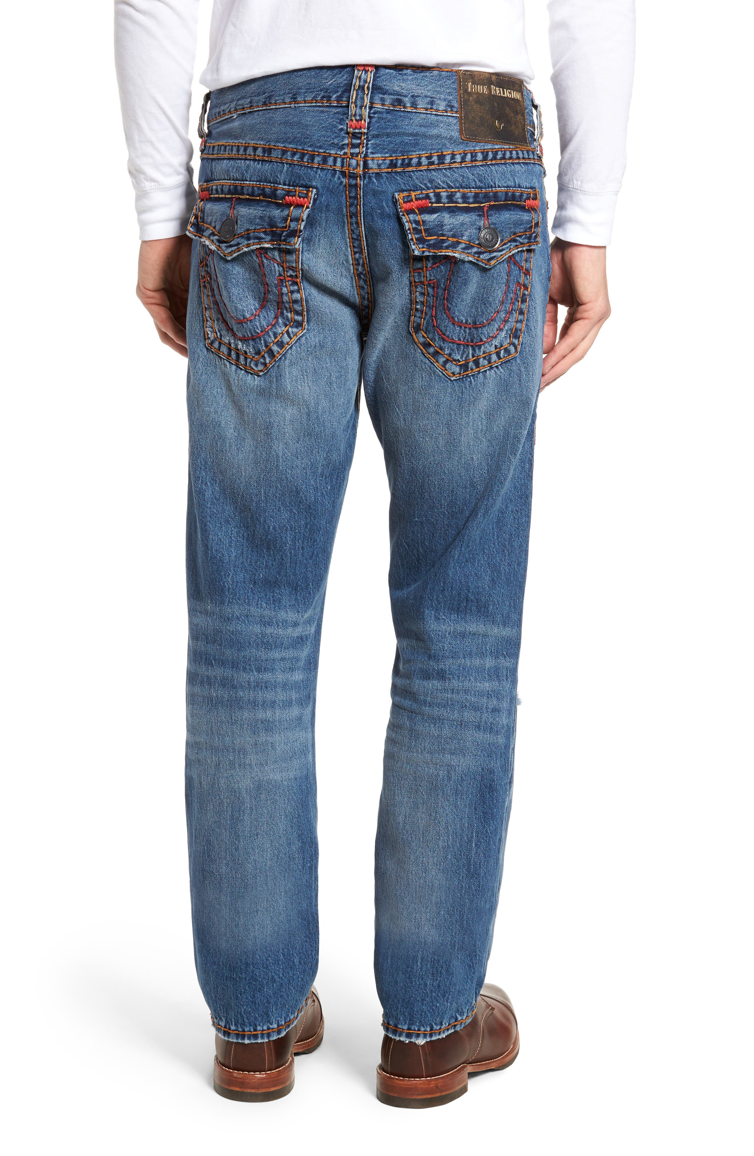 Alternate Image 2  - True Religion Brand Jeans Ricky Relaxed Fit Jeans (Worn Ever Fade)