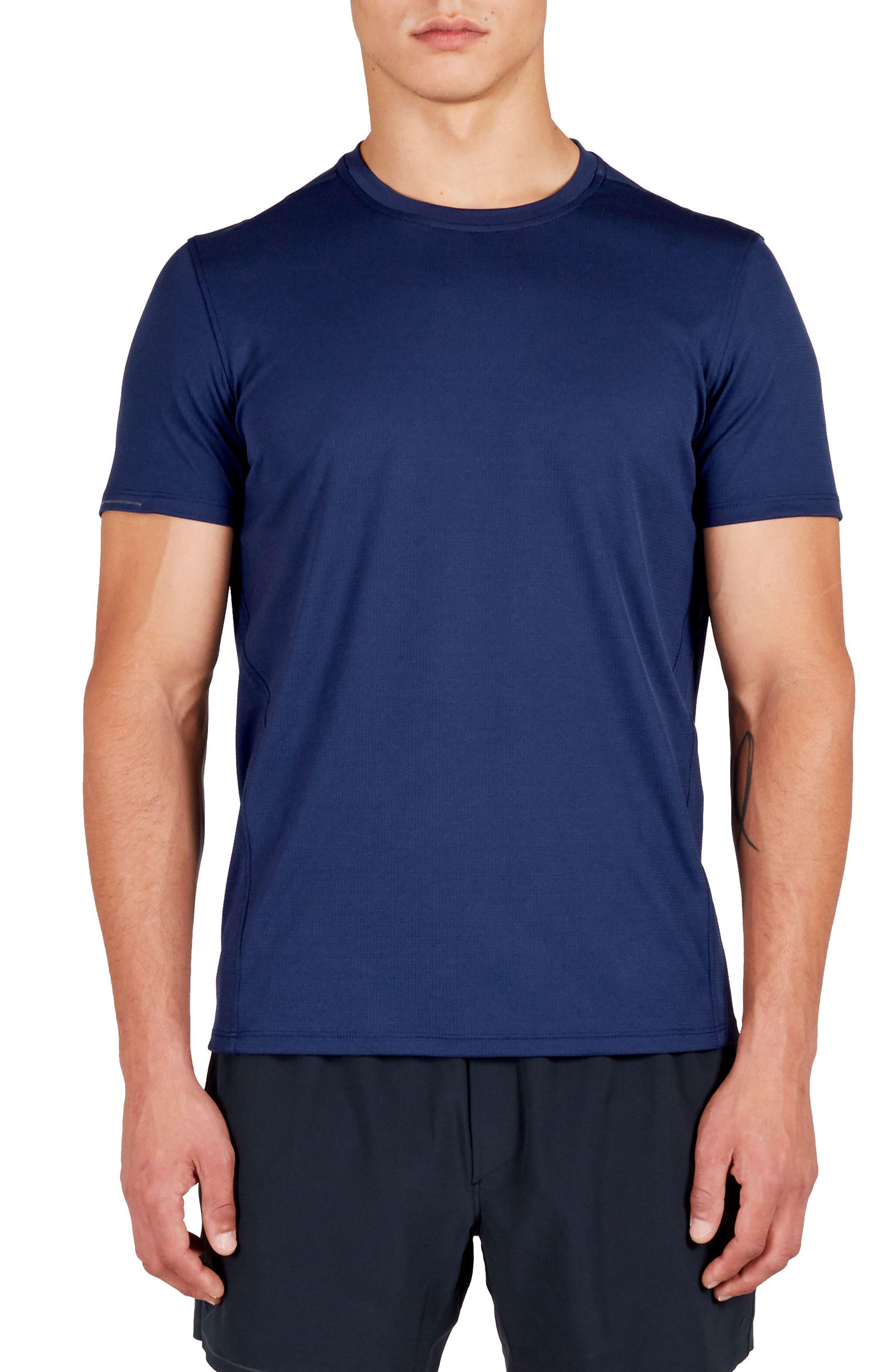 Distance Crewneck T-Shirt,                         Main,                         color, Navy