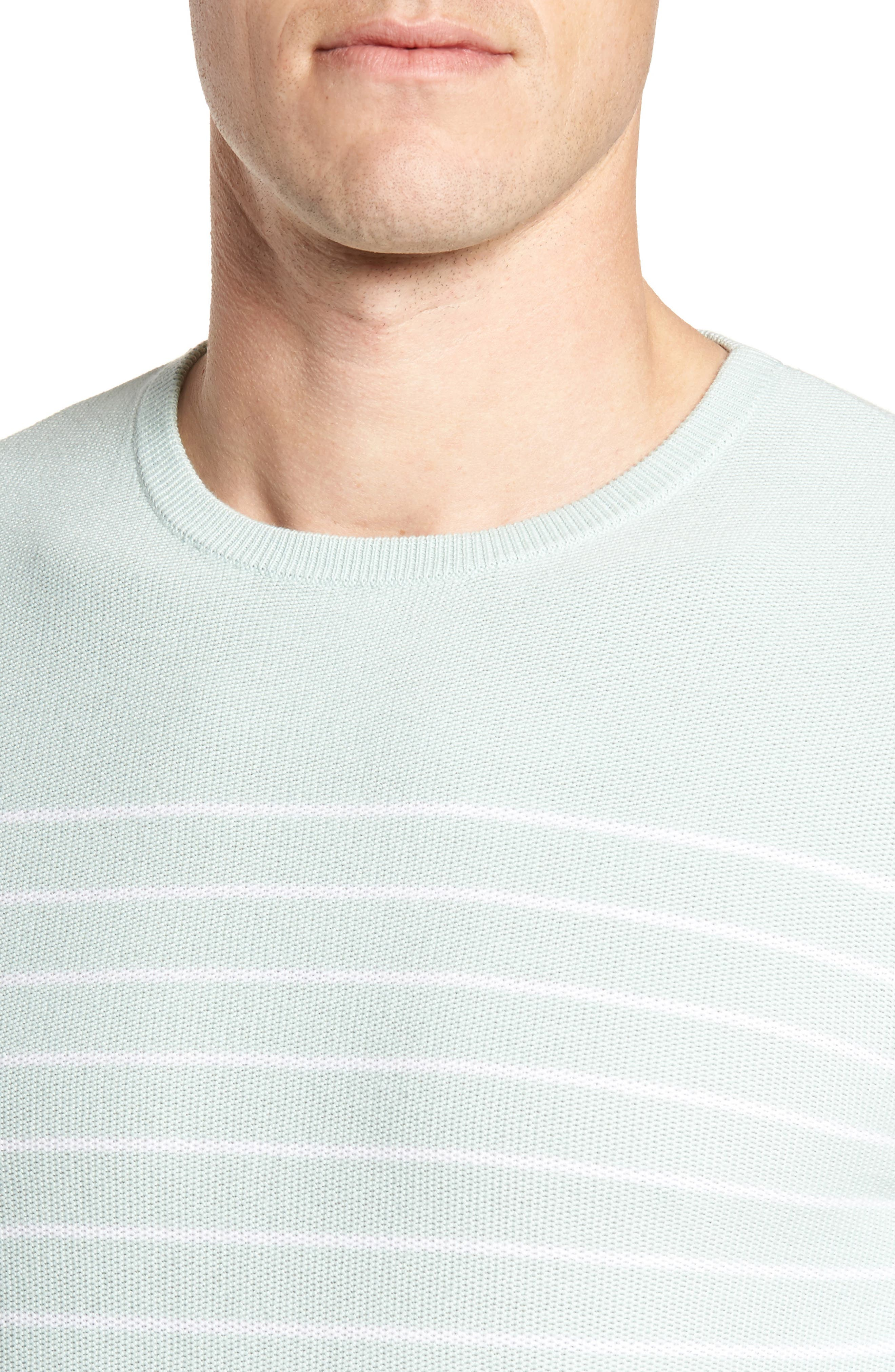 Alternate Image 4  - Nordstrom Men's Shop Stripe Cotton Sweater