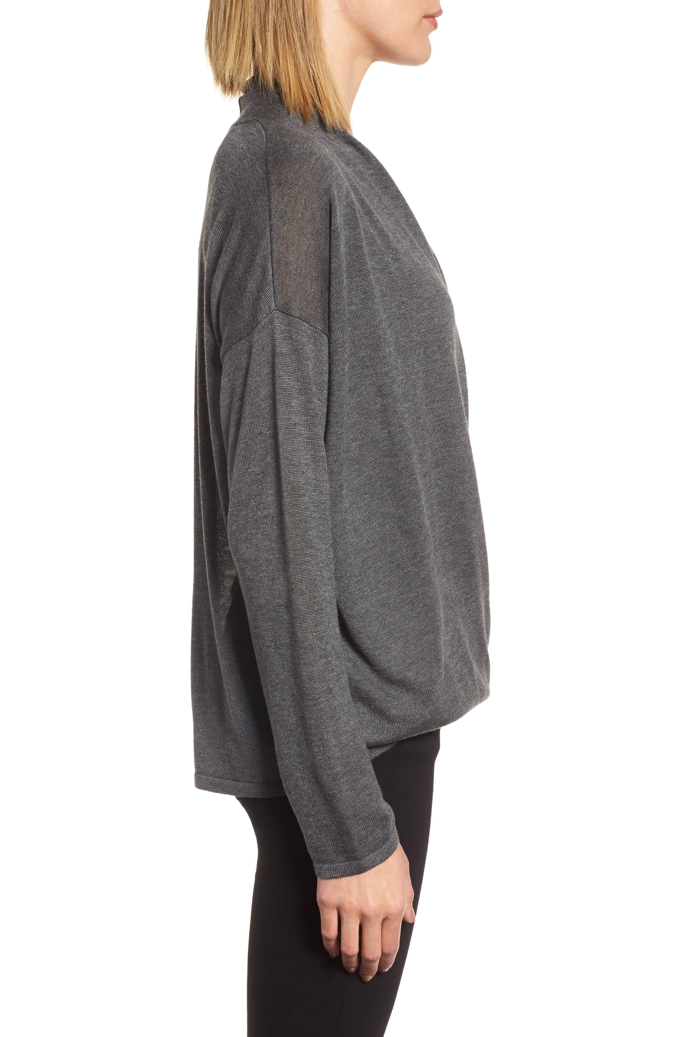 Alternate Image 3  - Eileen Fisher Faux Wrap Tencel® & Merino Wool Sweater
