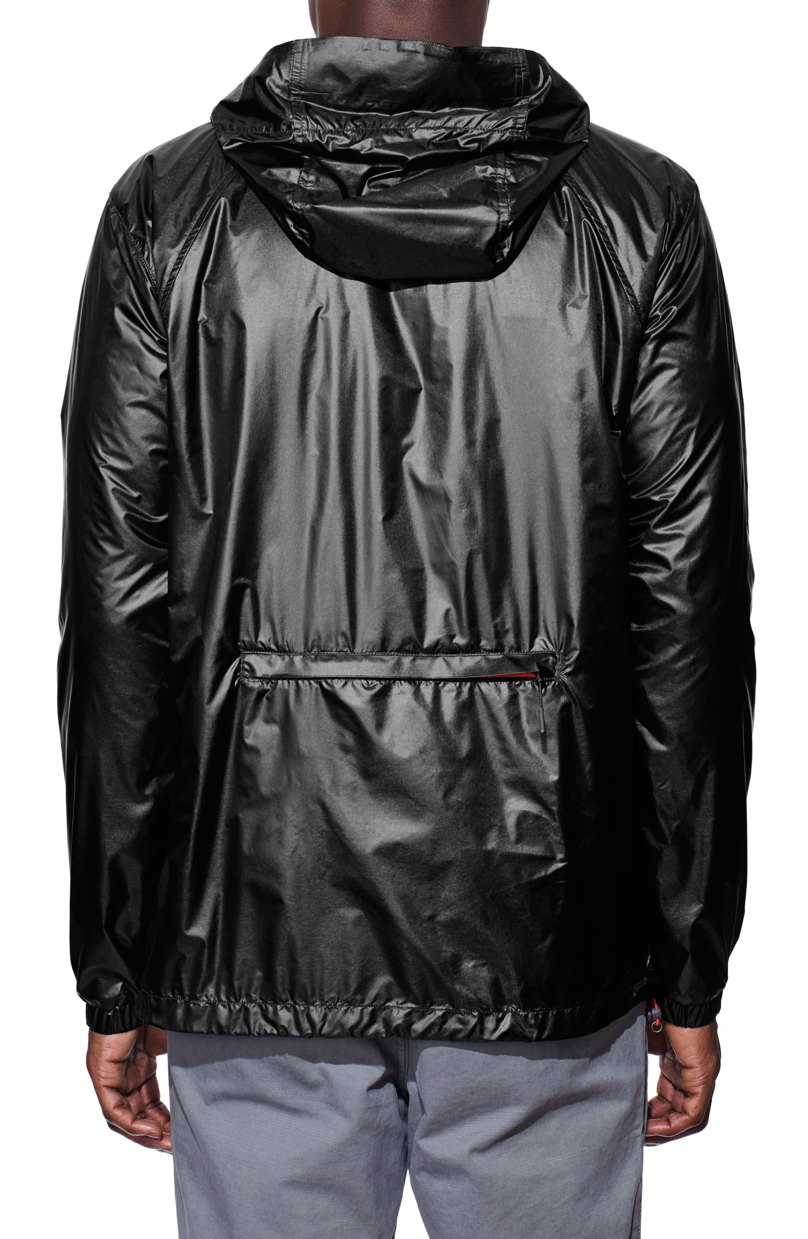 Sandpoint Windbreaker Jacket,                             Alternate thumbnail 2, color,                             Black