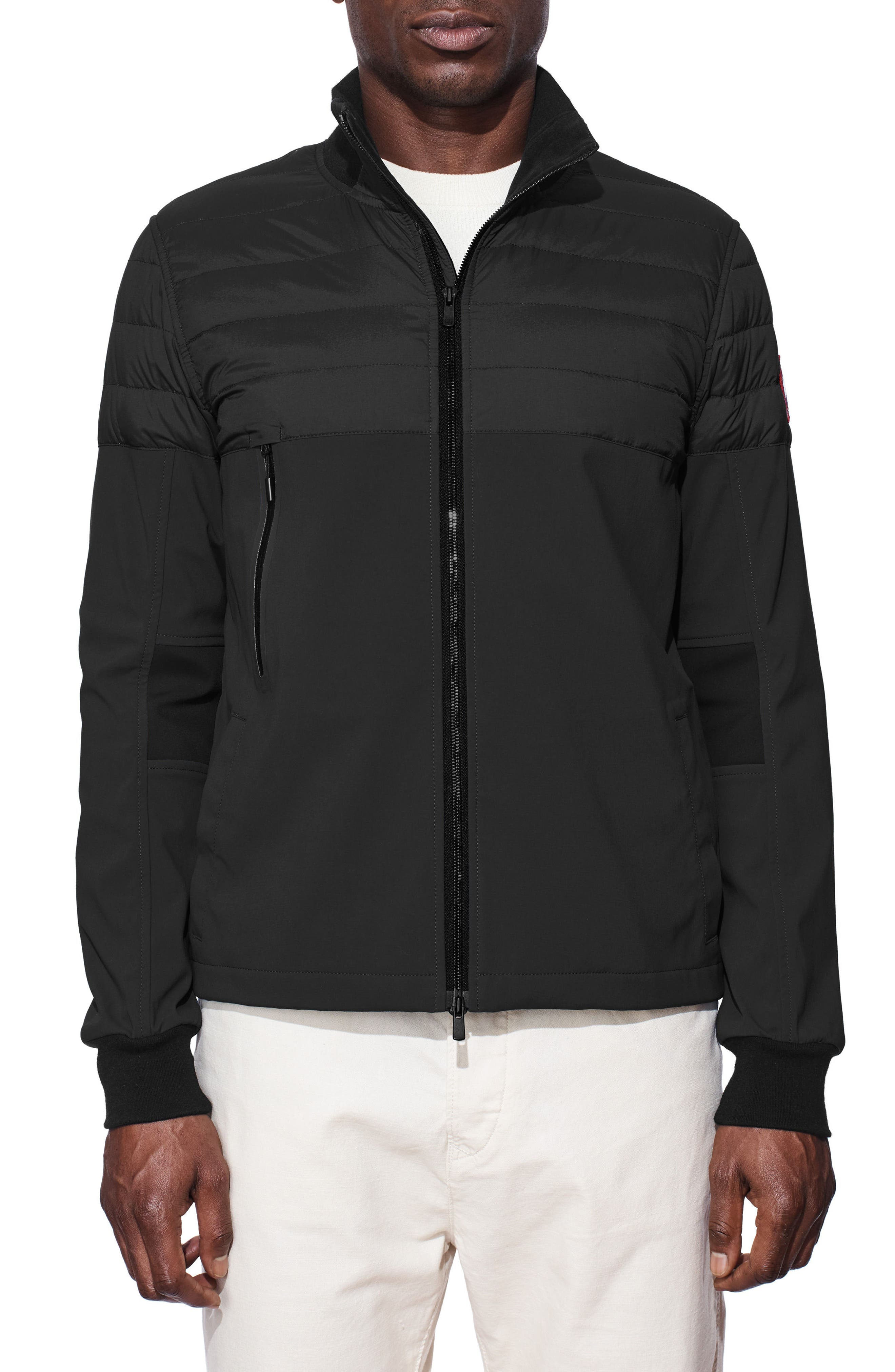 Canade Goose Jericho Beach Down Filled Jacket,                         Main,                         color, Black/ Black