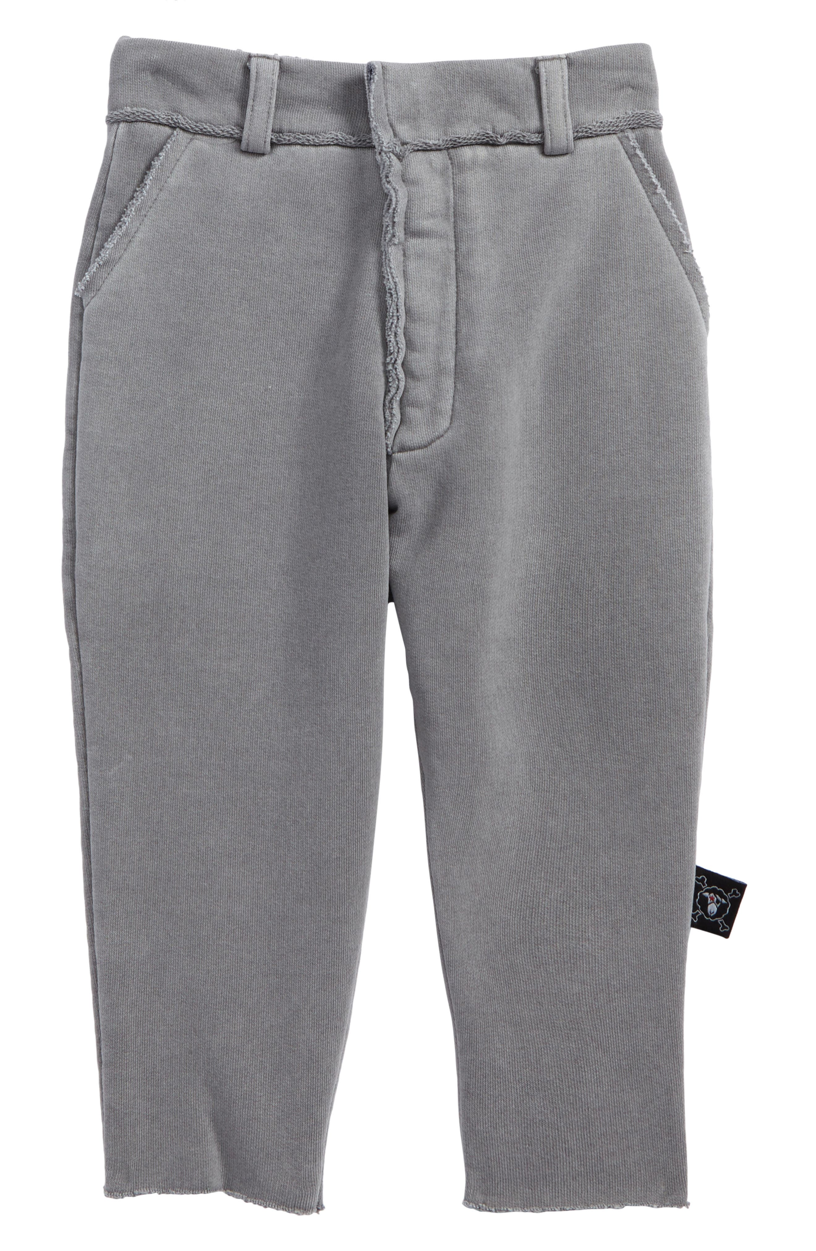 French Terry Pants,                         Main,                         color, Dyed Grey