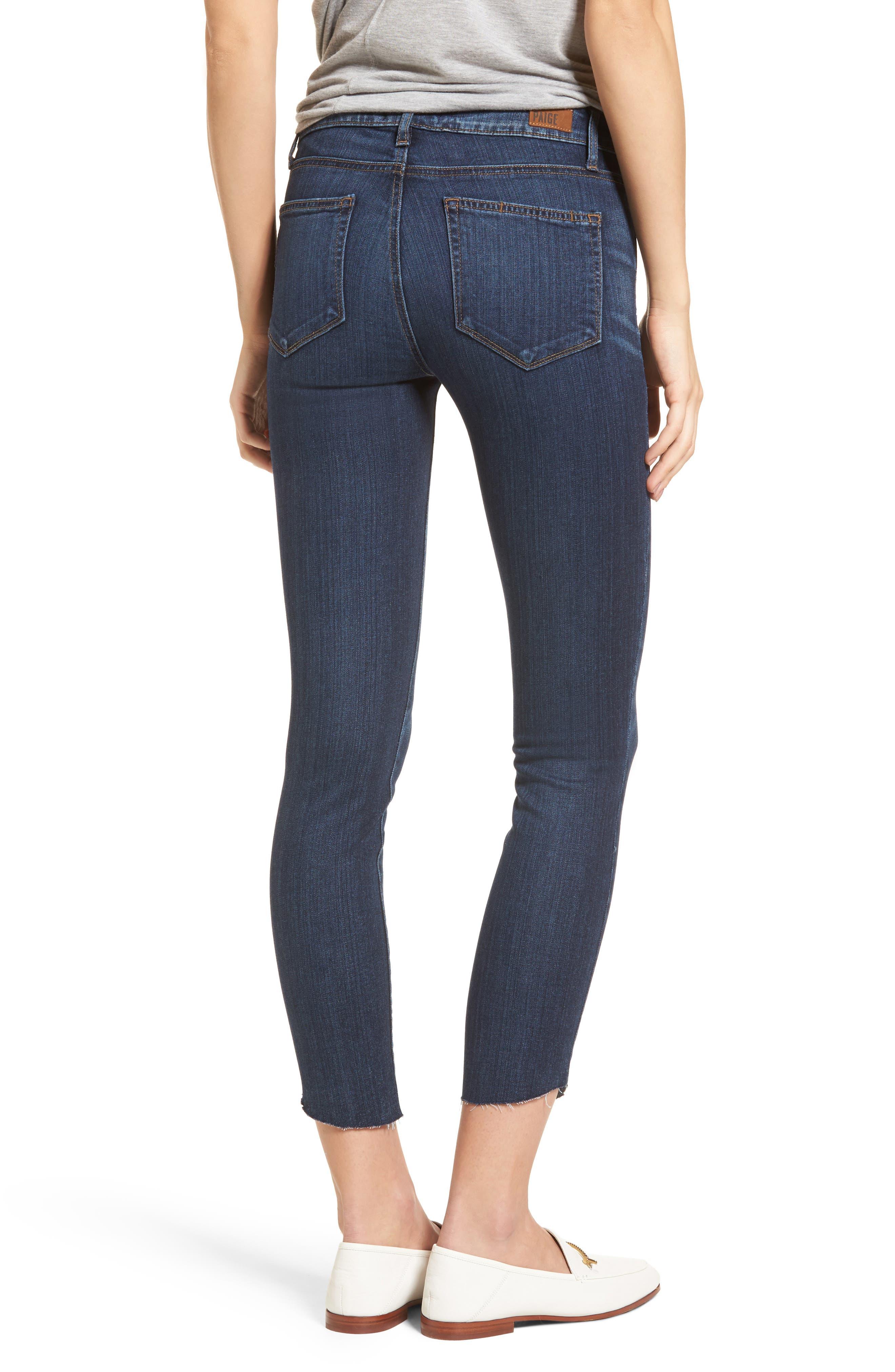 Transcend - Verdugo Ankle Ultra Skinny Jeans,                             Alternate thumbnail 2, color,                             Oaklyn