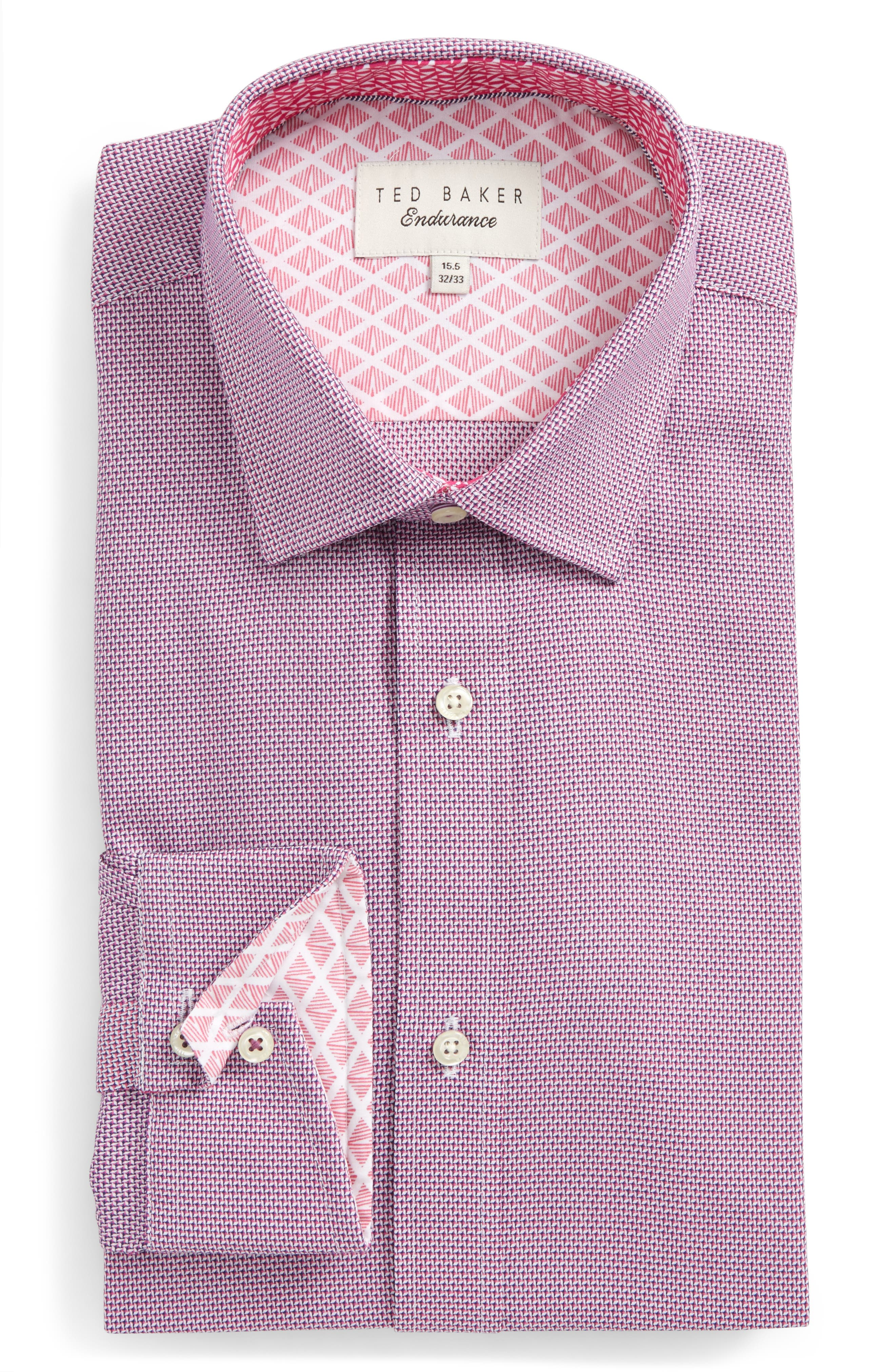 Alternate Image 1 Selected - Ted Baker London Murgese Trim Fit Geometric Dress Shirt