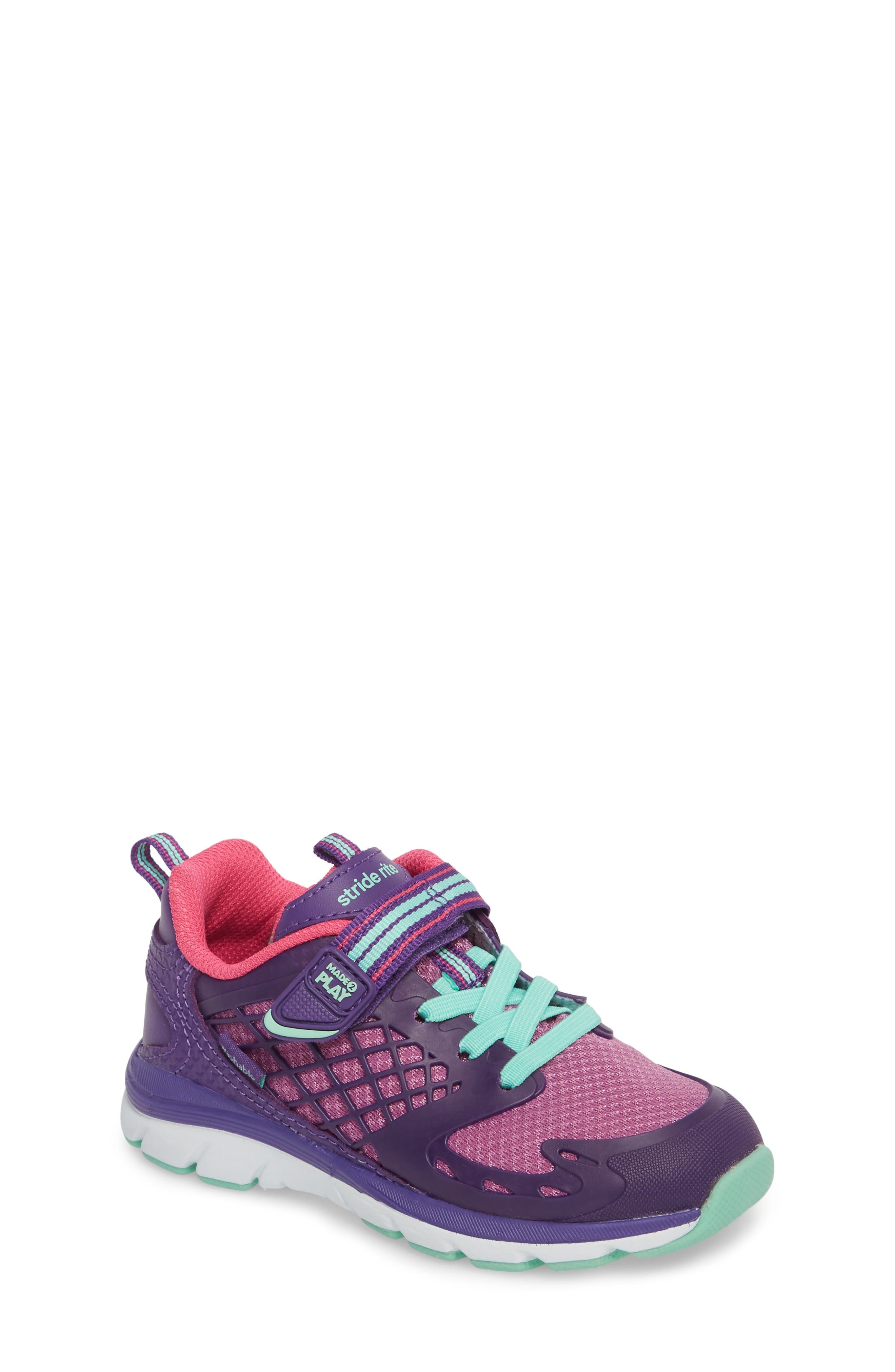 'Made2Play<sup>®</sup> Cannan Lace' Sneaker,                             Main thumbnail 1, color,                             Purple Leather/ Textile