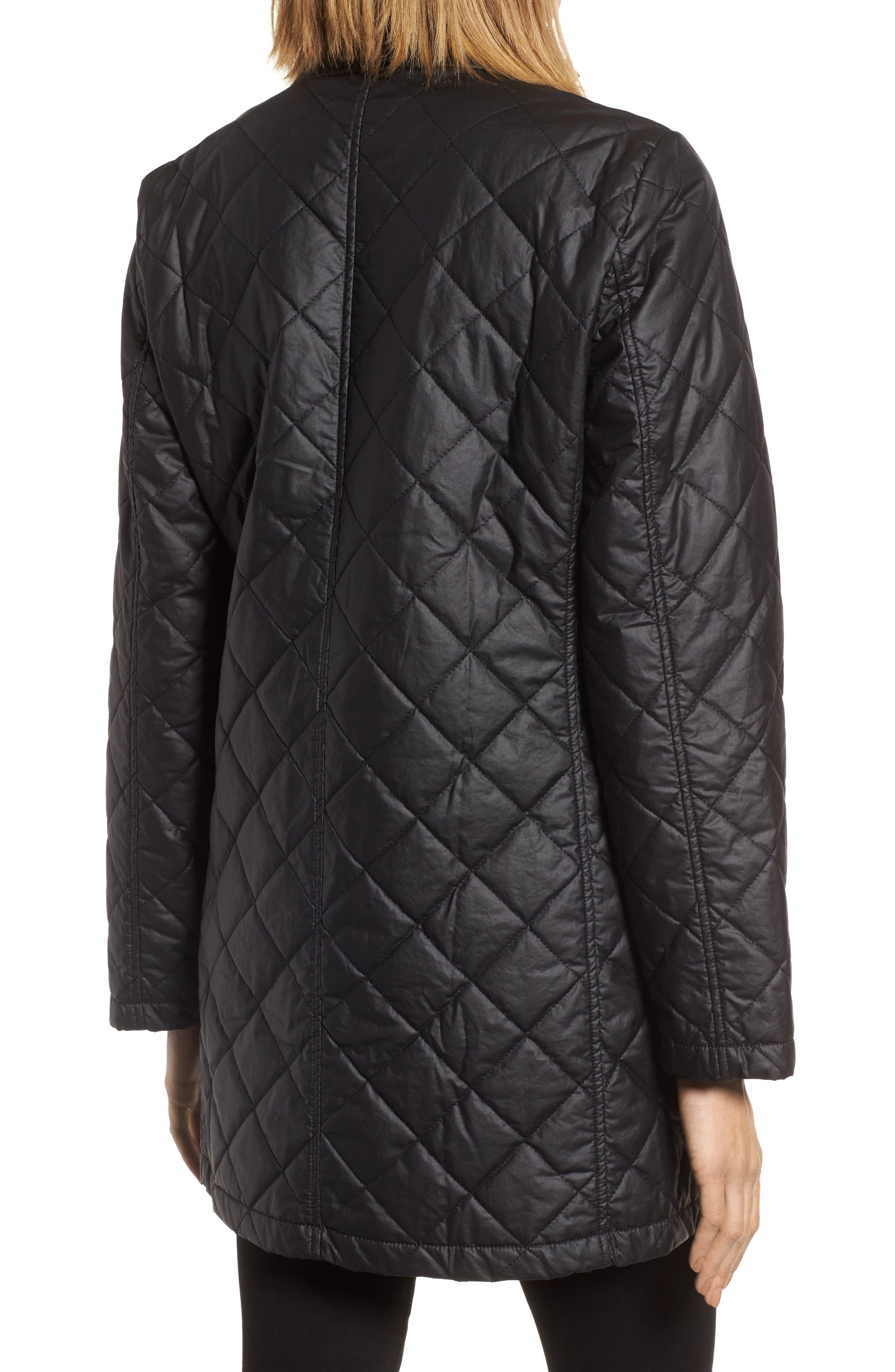 Stand Collar Organic Cotton Jacket,                             Alternate thumbnail 2, color,                             Black