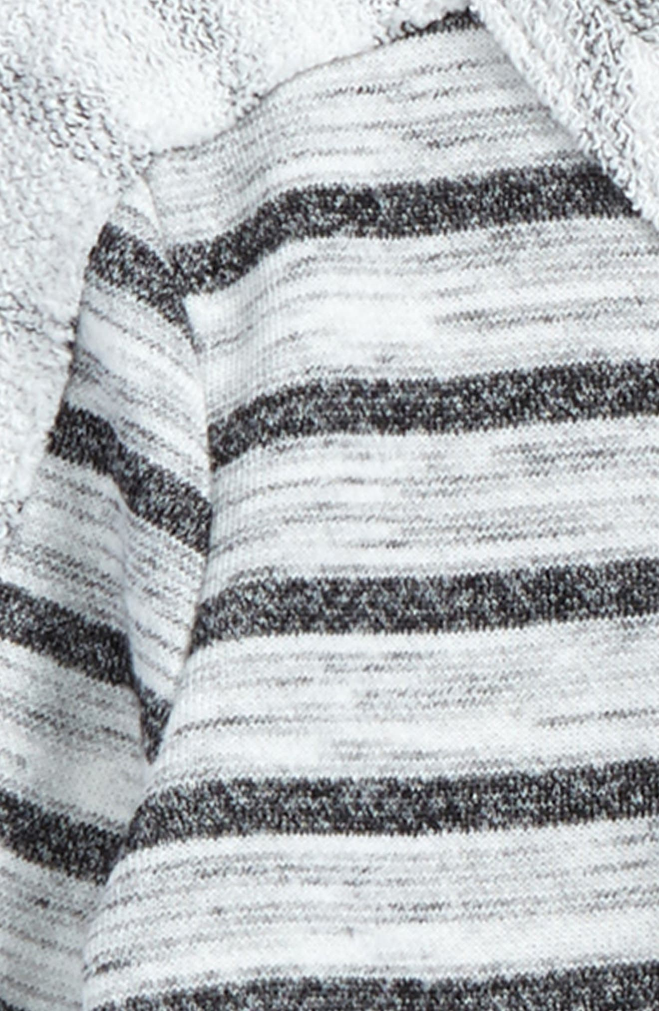 Mixed Media Stripe Top,                             Alternate thumbnail 2, color,                             White/ Charcoal