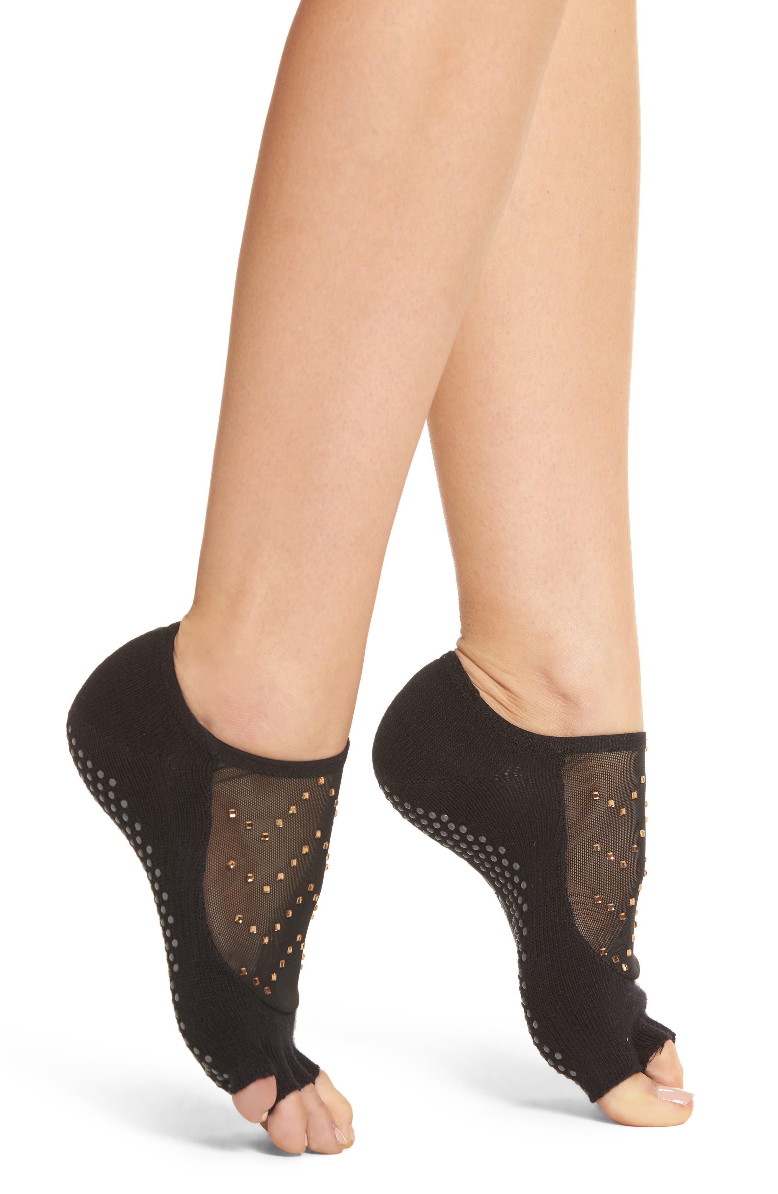Luna Half Toe Gripper Socks,                             Main thumbnail 1, color,                             Twilight