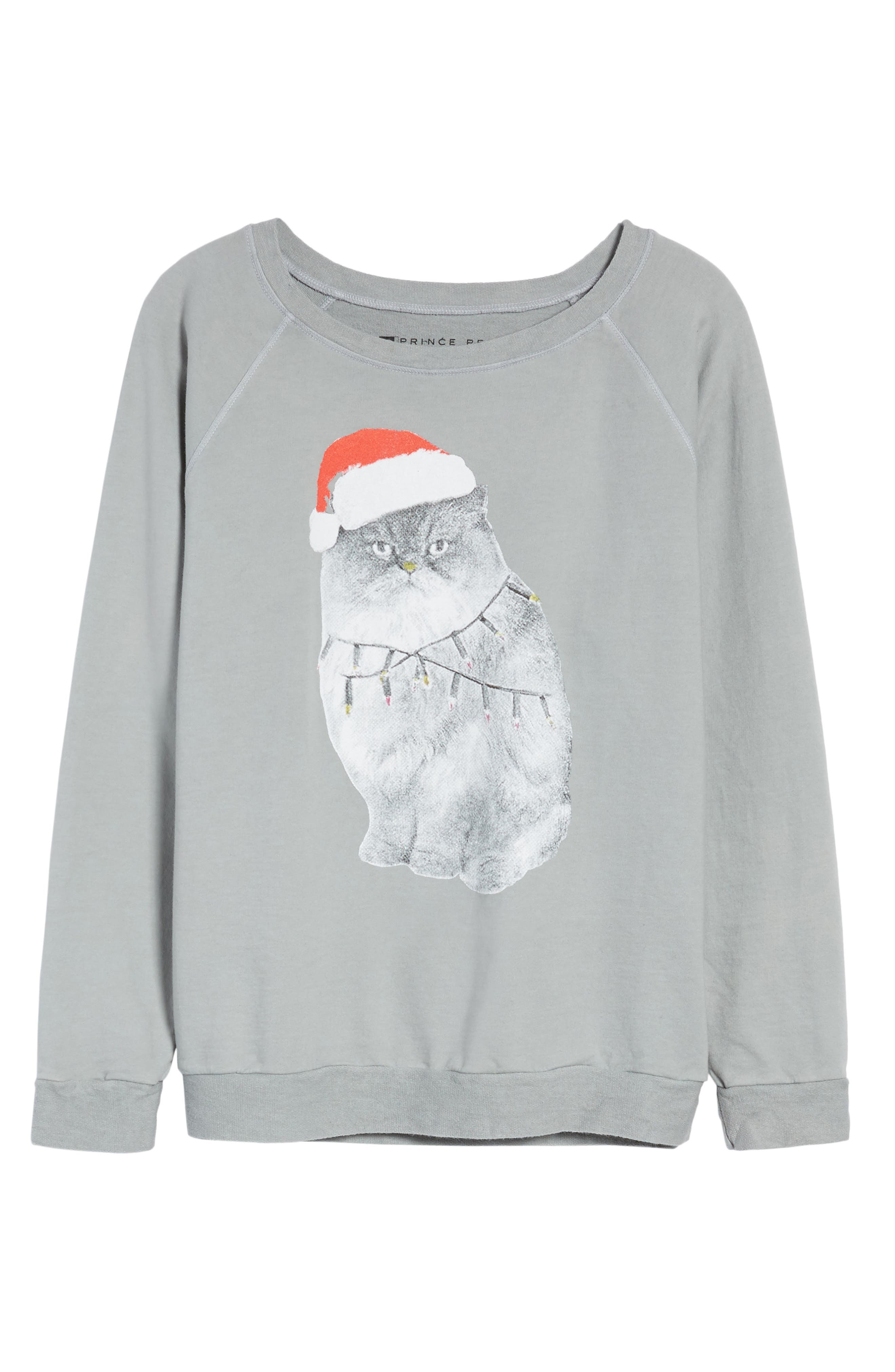 Alternate Image 6  - Prince Peter Xmas Kitty Sweatshirt