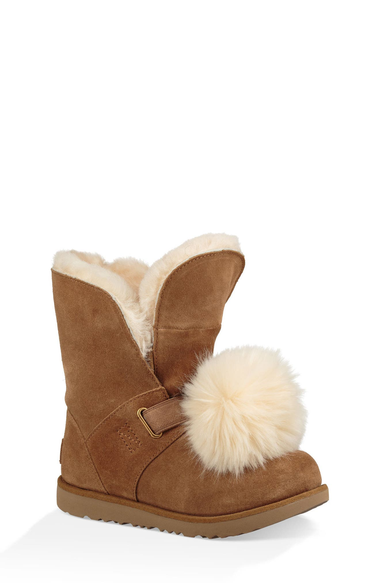 UGG® Isley Genuine Shearling Waterproof Pom Boot (Little Kid & Big Kid)