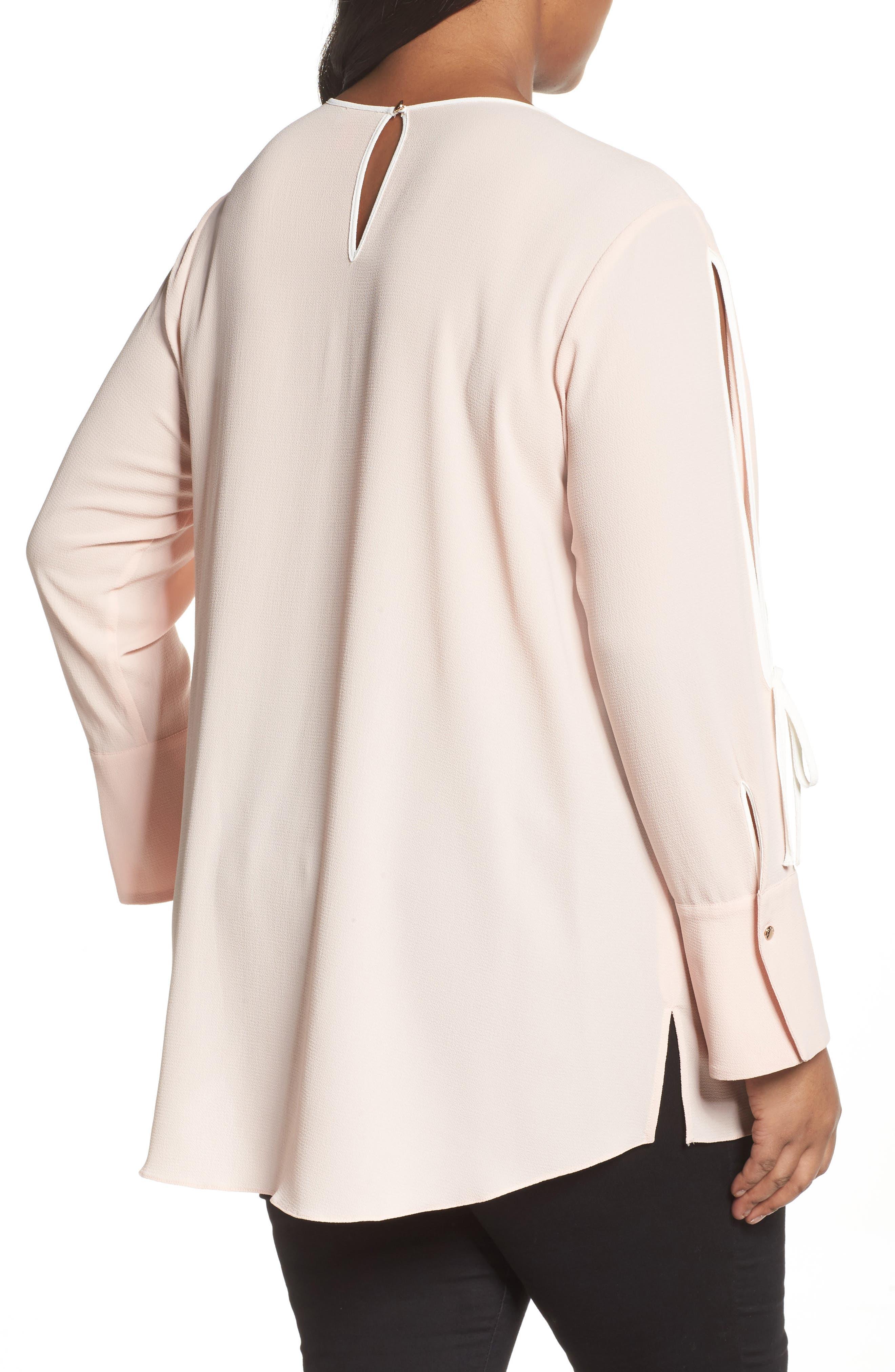 Alternate Image 2  - Vince Camuto Bell Cuff Split Sleeve Shirt (Plus Size)