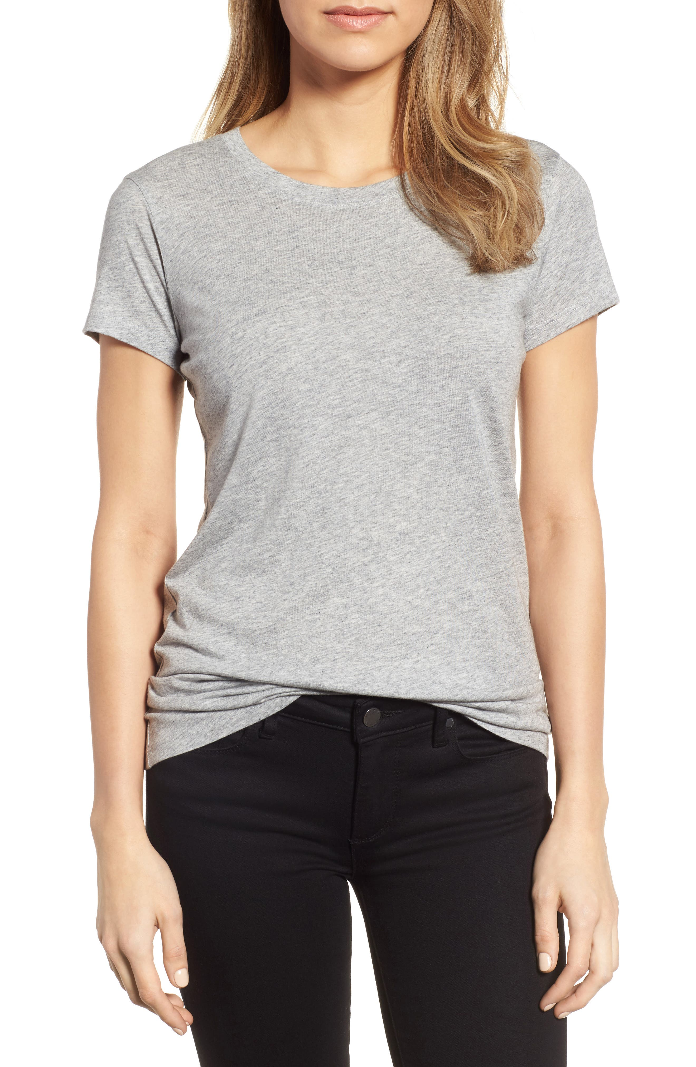 Halogen® Short Sleeve Crewneck Tee (Regular & Petite)