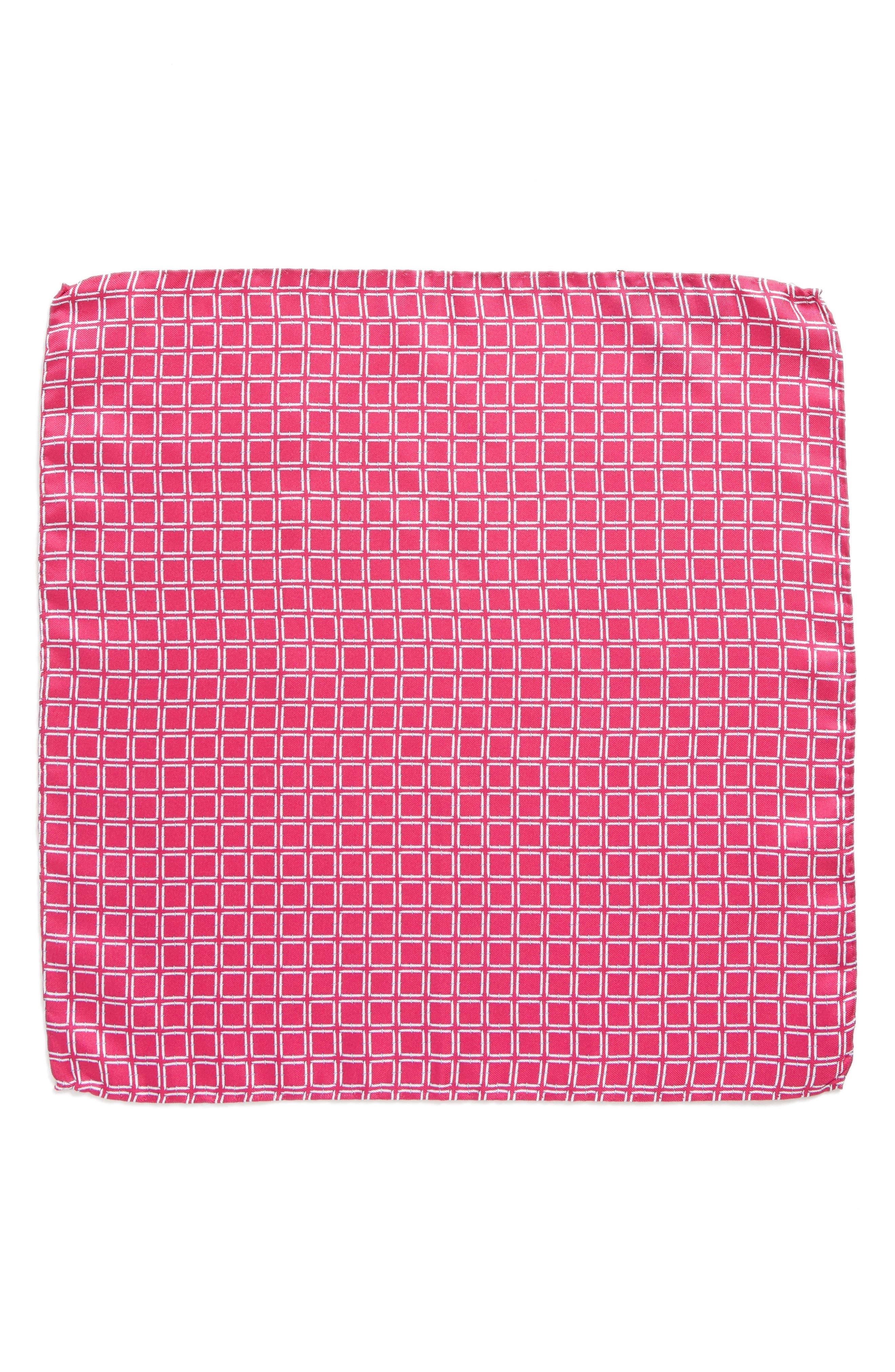 Jack the Knife Silk Pocket Square,                             Alternate thumbnail 2, color,                             Pink