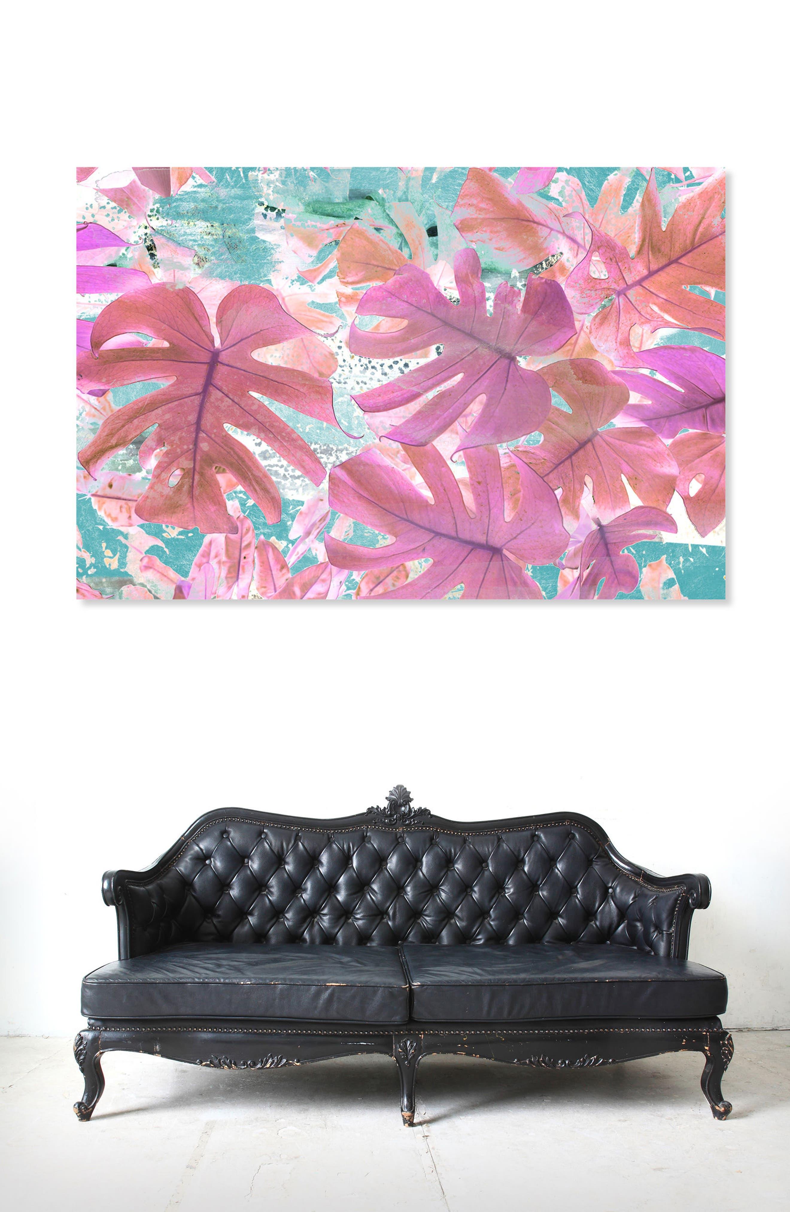 Alternate Image 2  - Oliver Gal Vivid Leaves Canvas Wall Art