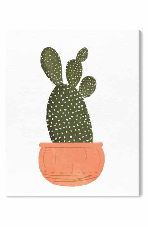 02d316b2 Oliver Gal Cactus Coral II Canvas Wall Art
