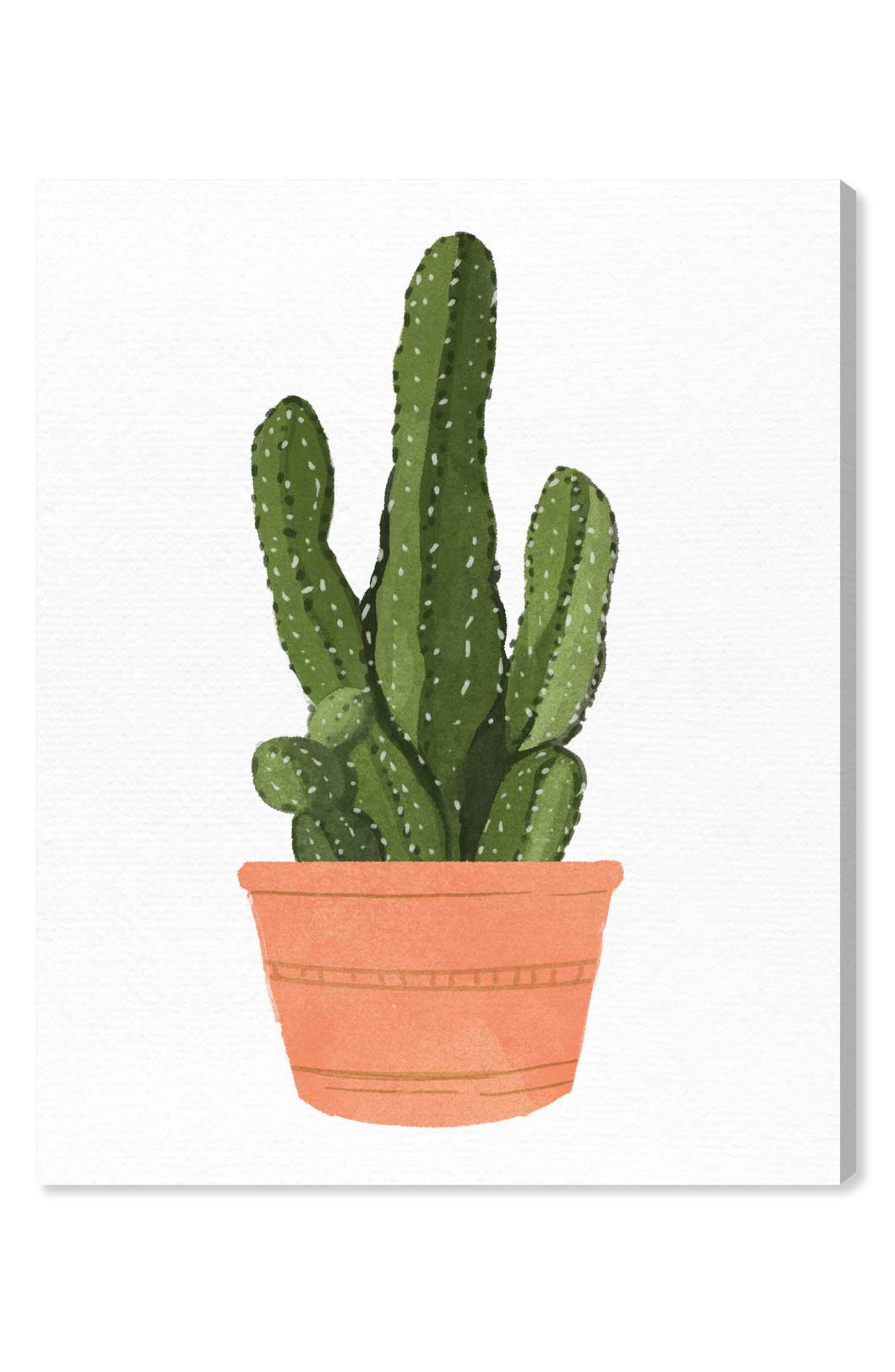 Oliver Gal Cactus Coral III Canvas Wall Art