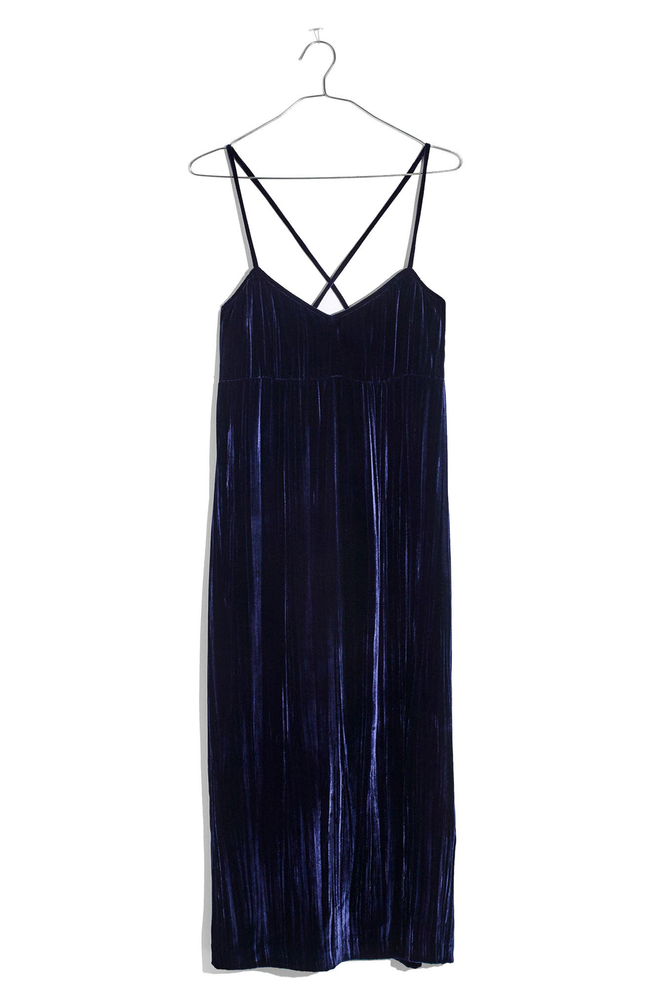 Crushed Velvet Slipdress,                             Alternate thumbnail 4, color,                             Nightfall