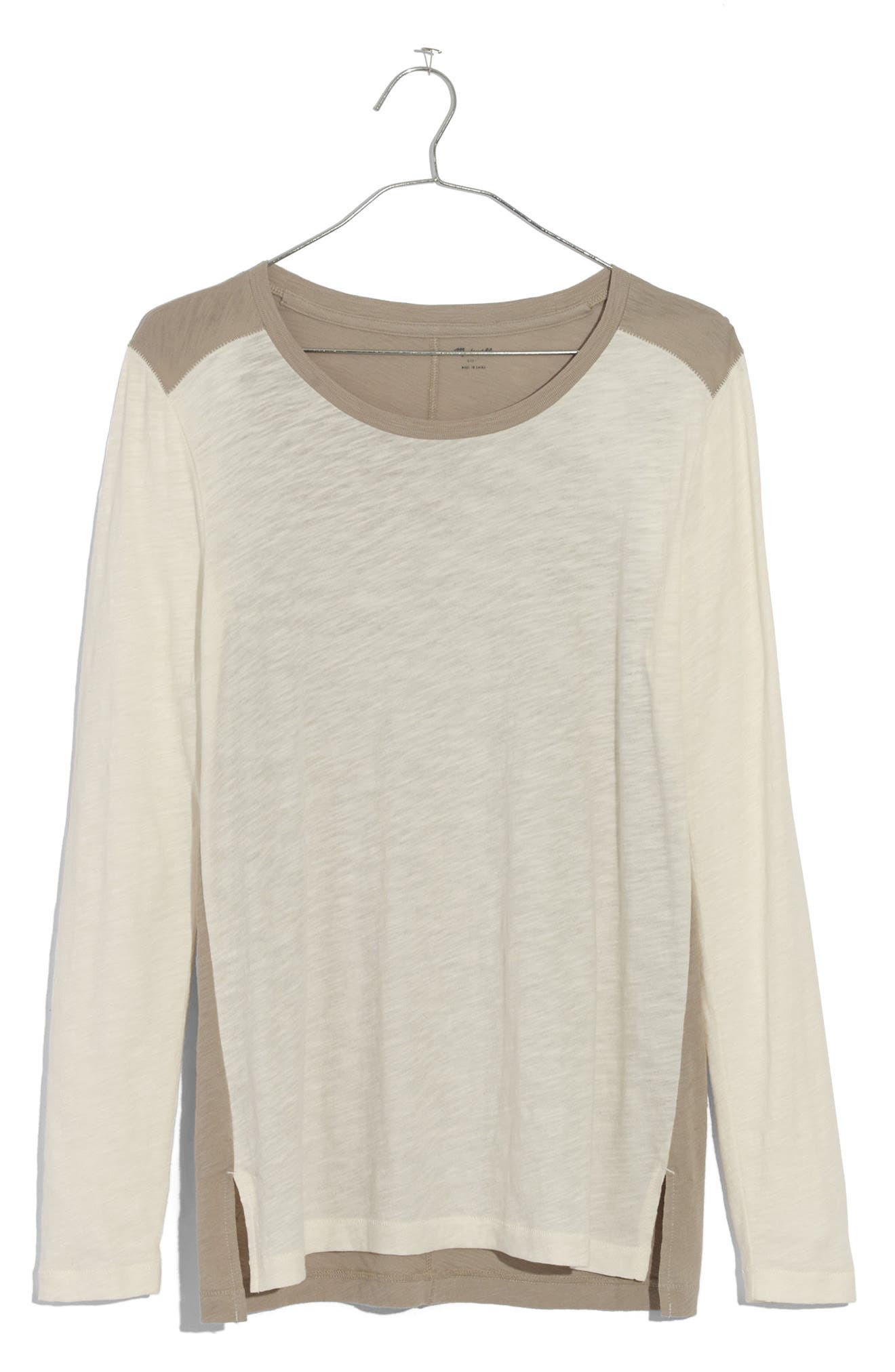 Alternate Image 4  - Madewell Whisper Cotton Colorblock Tee