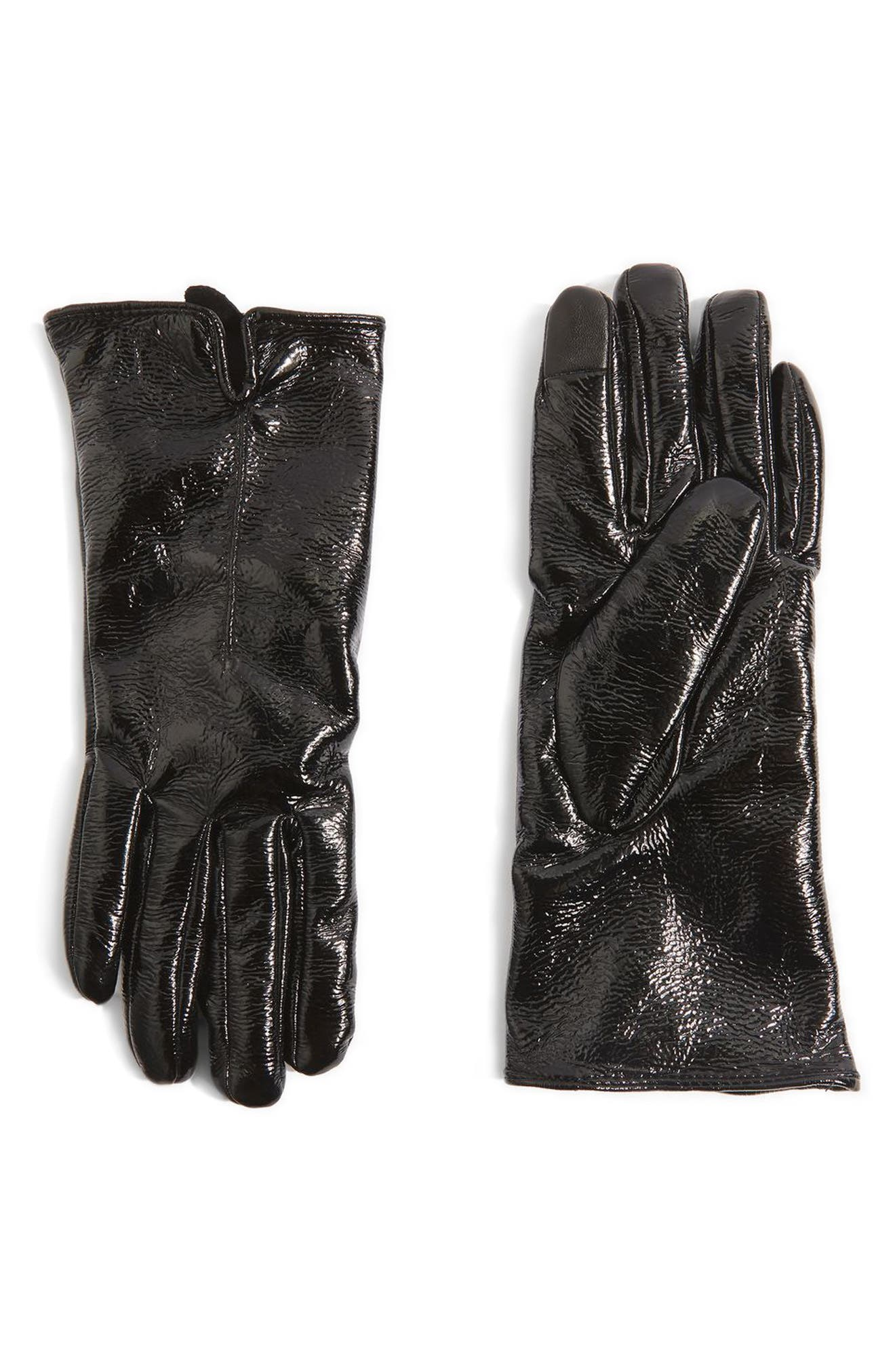 Vinyl Gloves,                             Main thumbnail 1, color,                             Black
